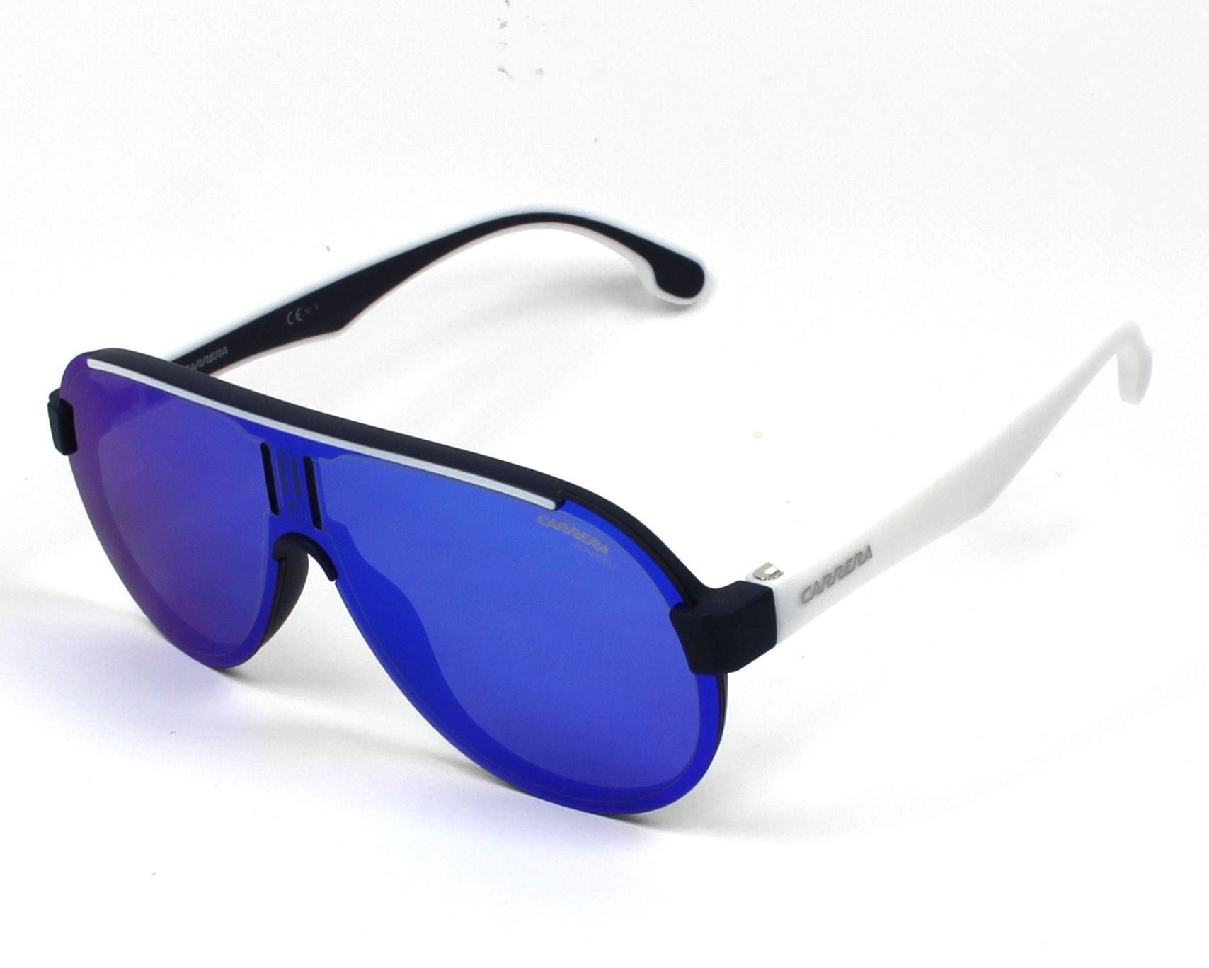 3575a7bf40ad7 Sunglasses Carrera 1008-S RCT Z0 99- Blue White profile view