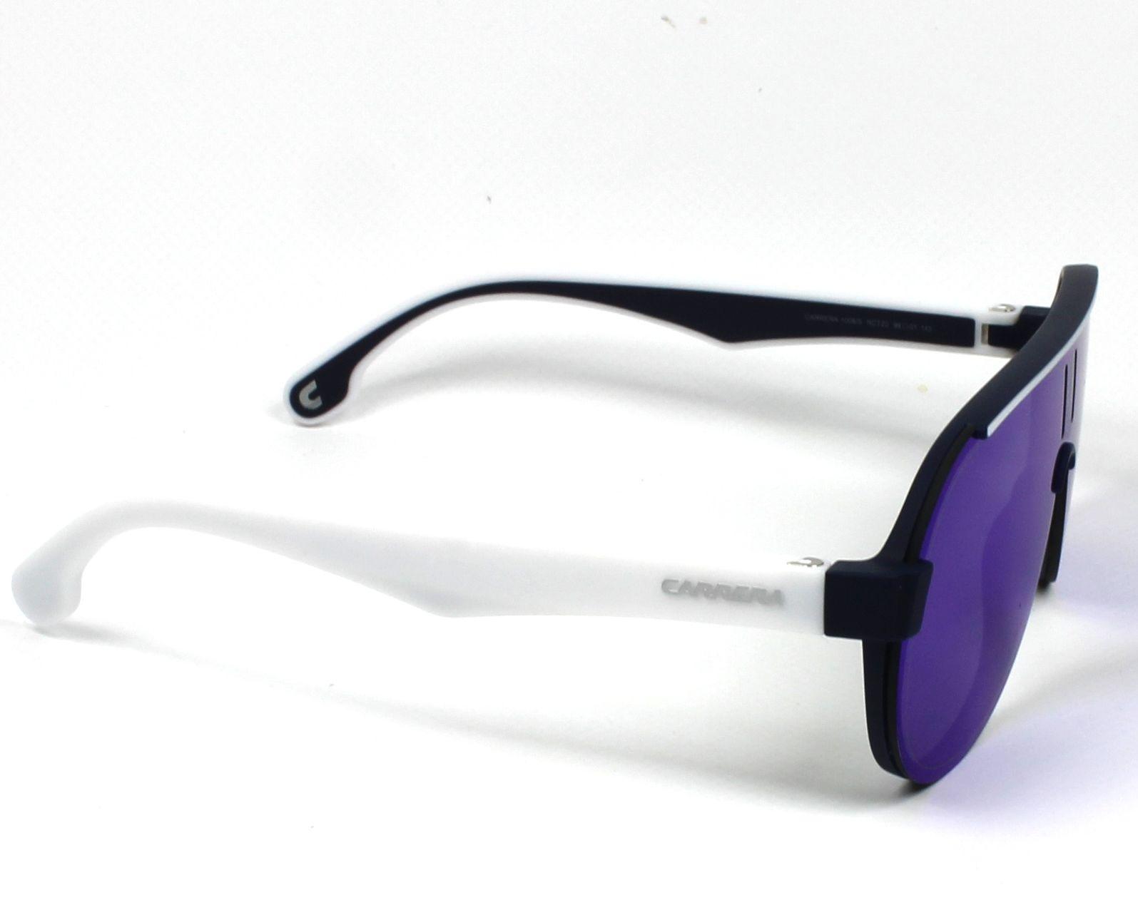 5b8839d6b1aa0 Sunglasses Carrera 1008-S RCT Z0 99- Blue White side view