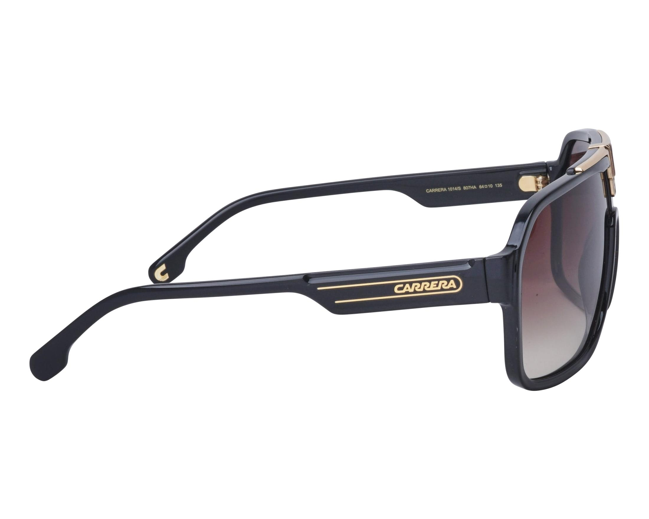 55e9399f9 Sunglasses Carrera 1014-S 807HA 64-10 Black Gold side view