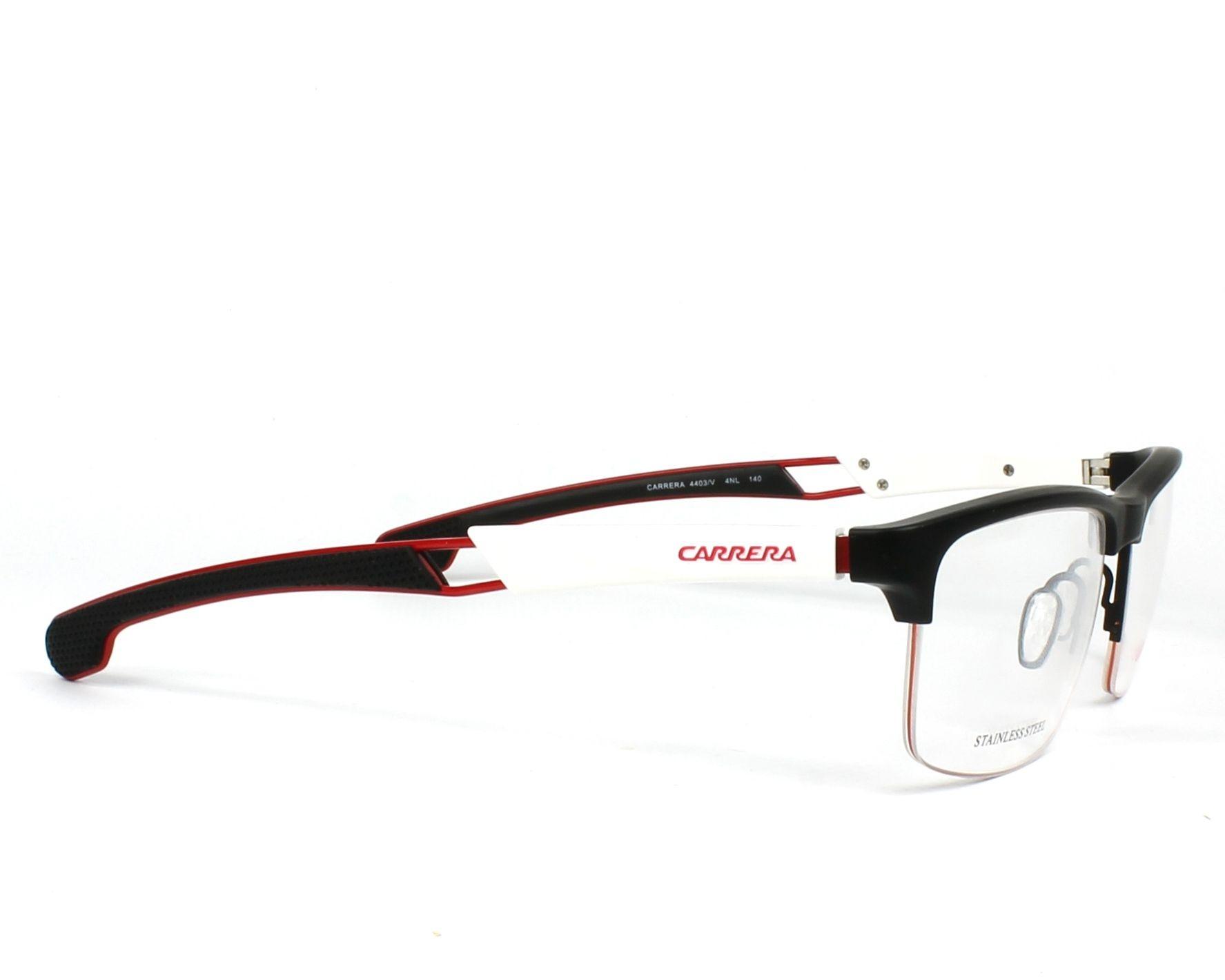 ca1e8eb49 eyeglasses Carrera 4403-V 4NL 55-17 Black White side view