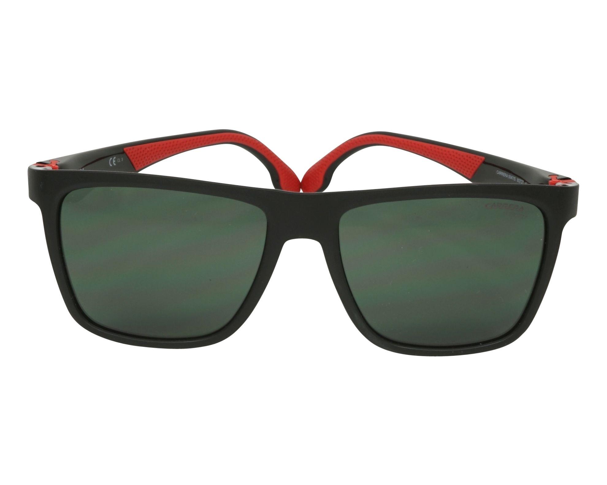 Sunglasses Carrera 5047-S 807 QT 56-17 Black Red front view 47f3ec5797