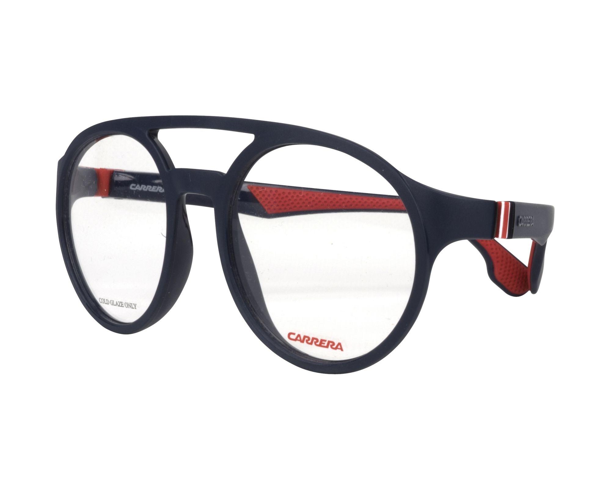 eyeglasses Carrera 5548-V FLL 51-19 Blue Red profile view dacc6b7e2f0