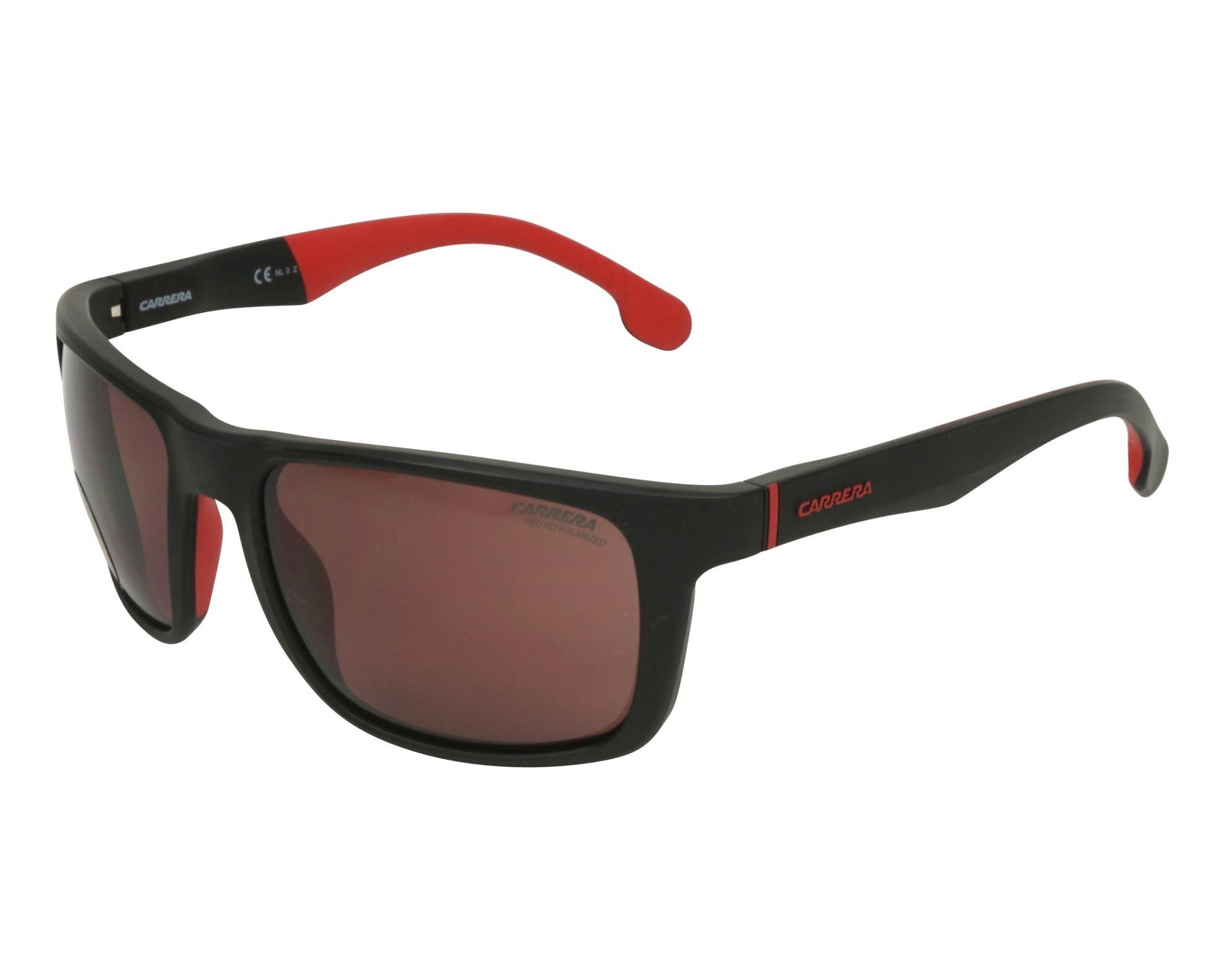 720ff99bc61 Polarized. Sunglasses Carrera 8027-S BLX W6 57-19 Black Red profile view