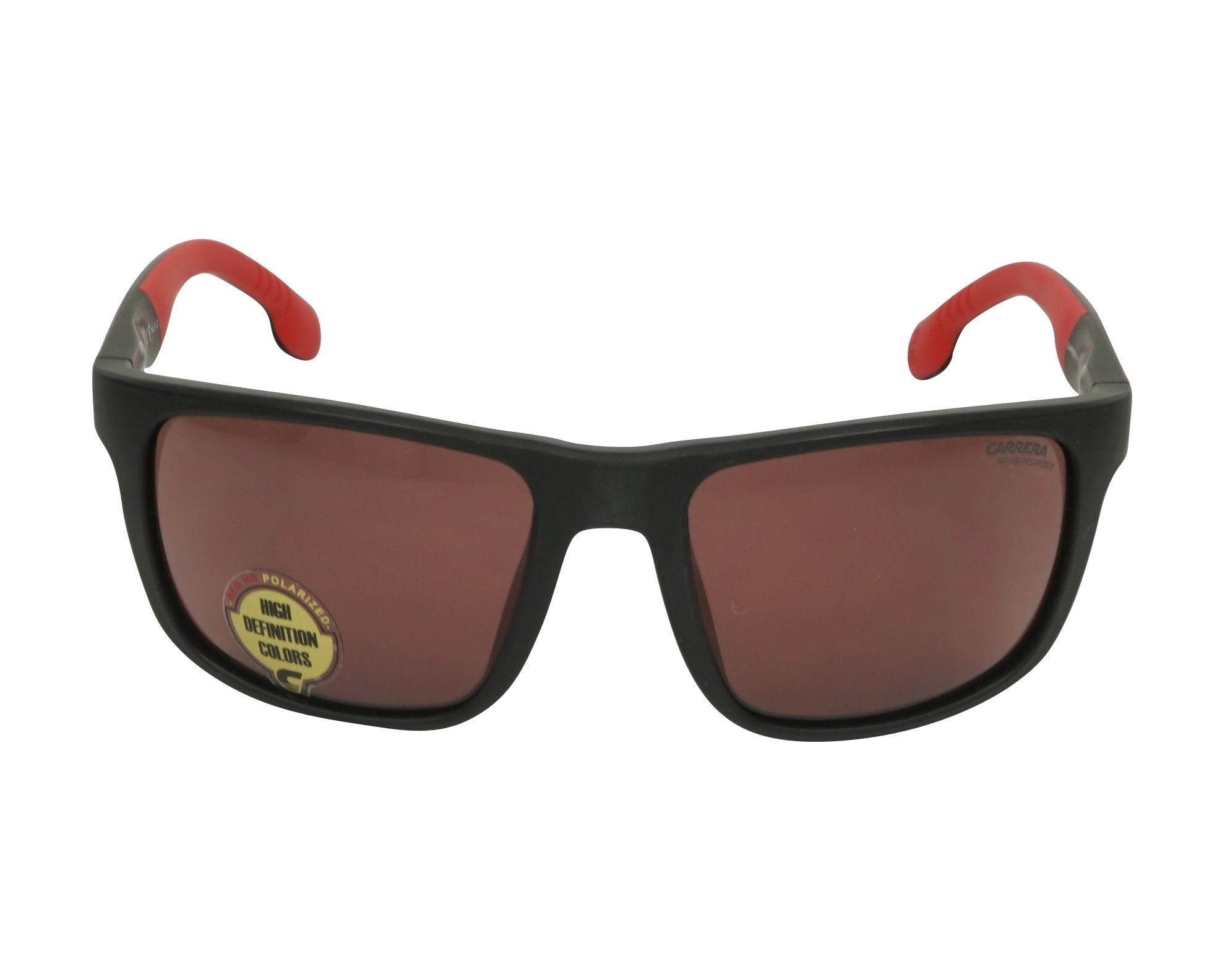 4ab0bef6780 Sunglasses Carrera 8027-S BLX W6 57-19 Black Red front view