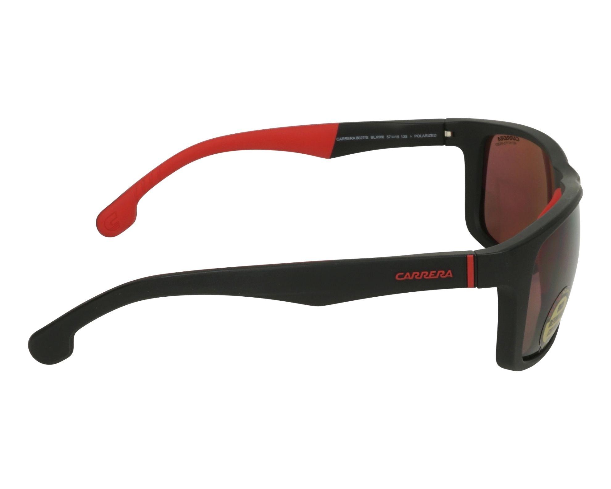 17f9db814f9 Sunglasses Carrera 8027-S BLX W6 57-19 Black Red side view