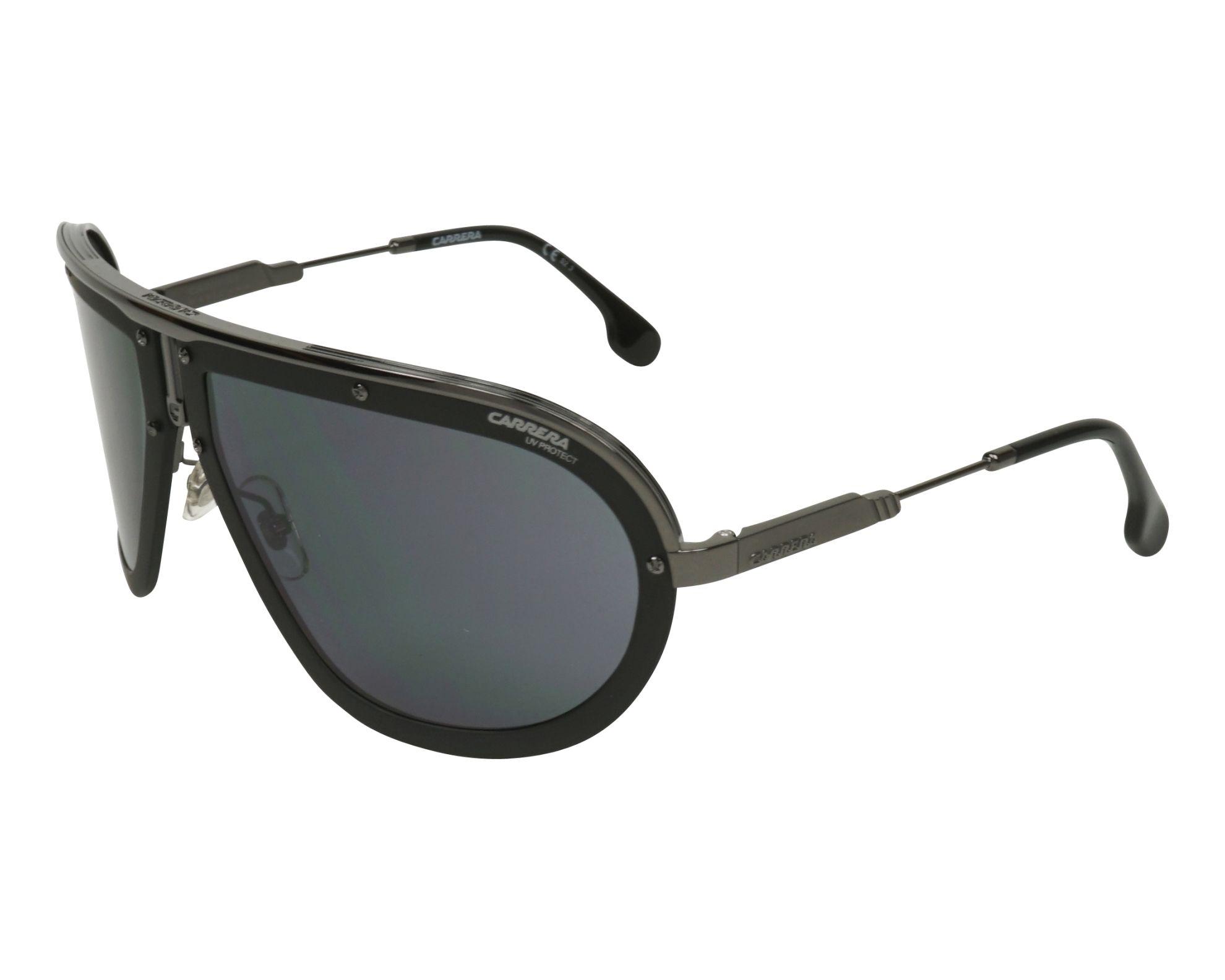 8831aefc31 Sunglasses Carrera AMERICANA KJ1 2K 66-17 Black Gun profile view