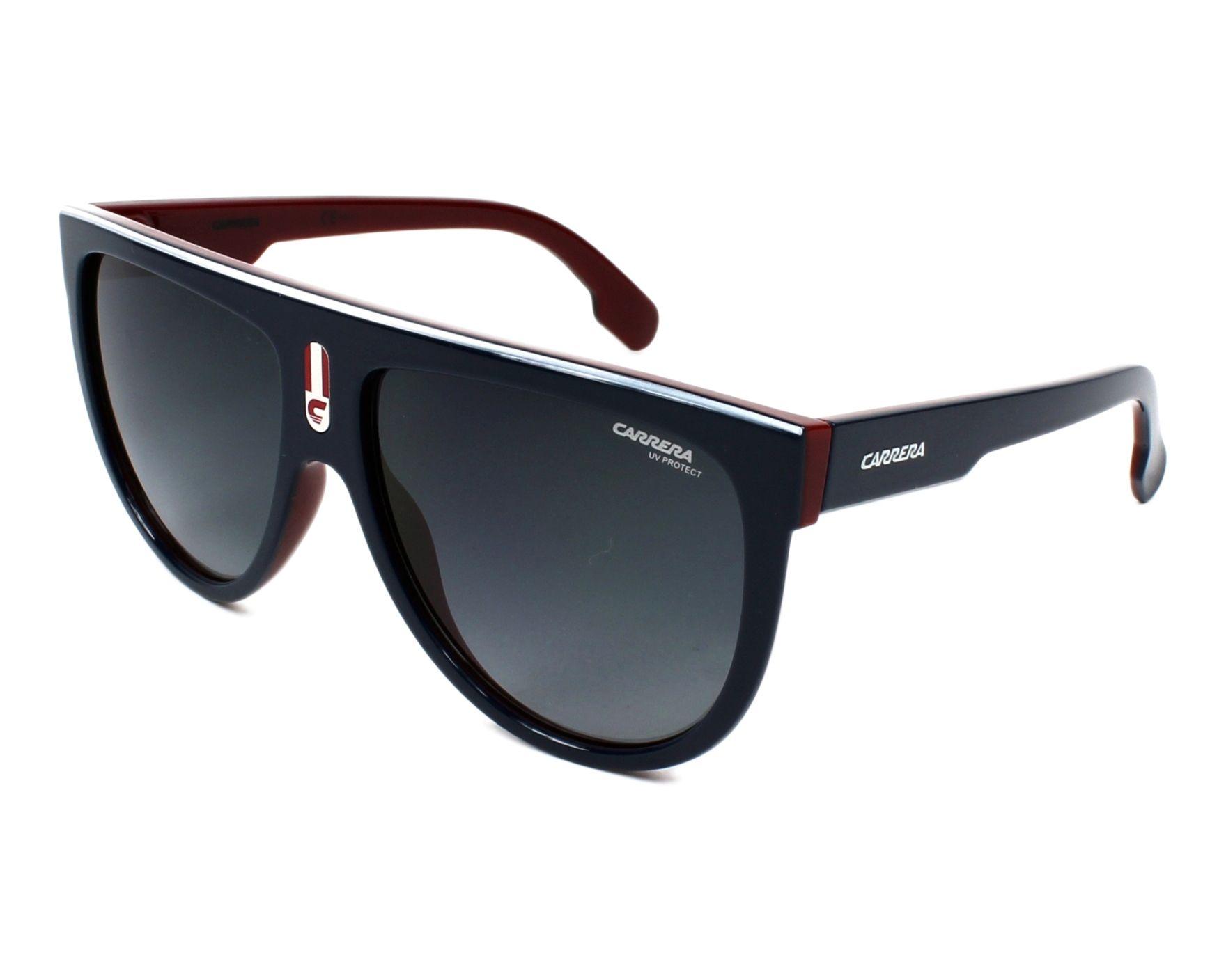 470e16c7c3f61 thumbnail Sunglasses Carrera FLAGTOP 8RU 9O - Blue Bordeaux profile view