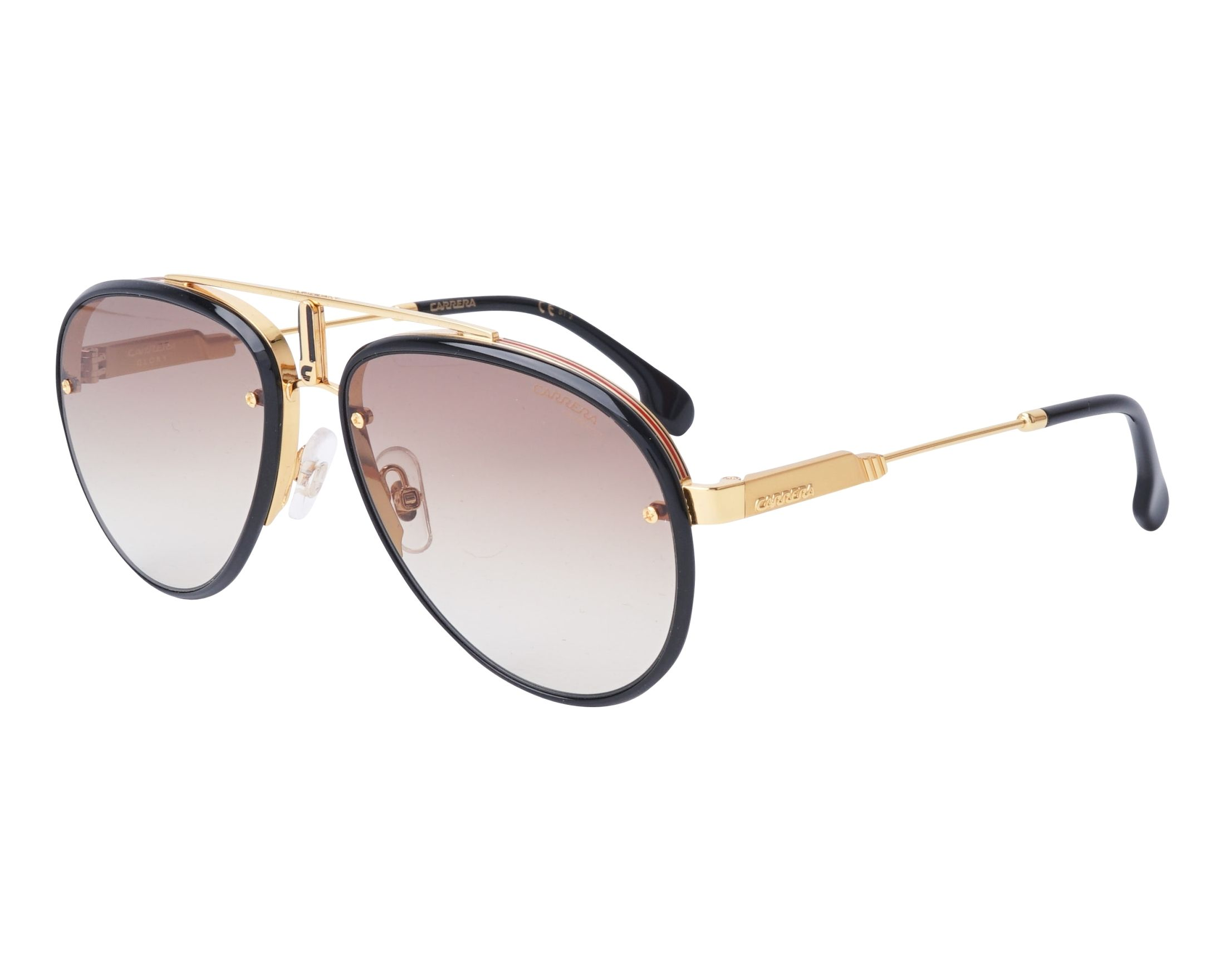 Sunglasses Carrera GLORY 2M286 58-17 Gold Black profile view a2c962b3e45