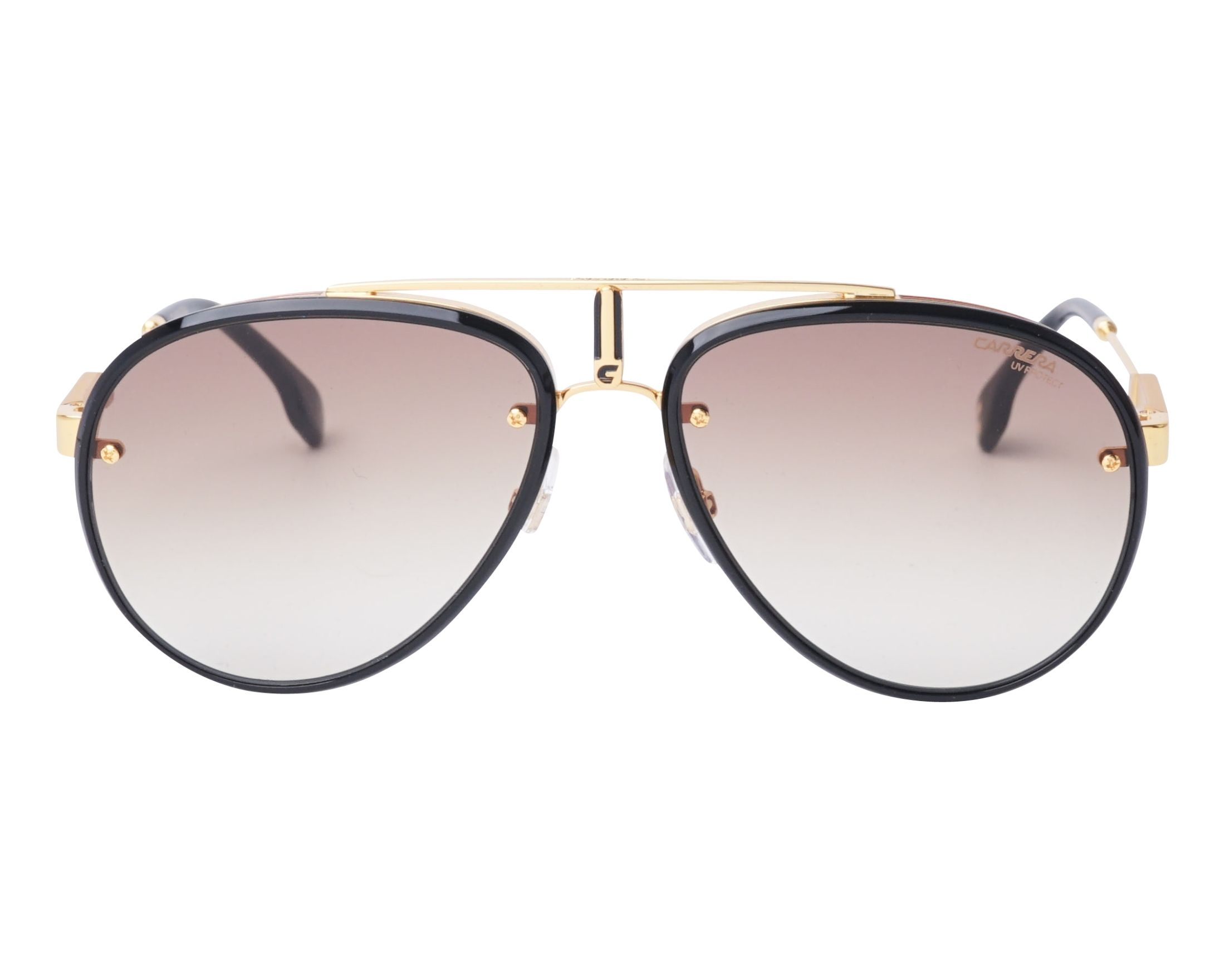 9b19e6586e5 Sunglasses Carrera GLORY 2M286 58-17 Gold Black front view