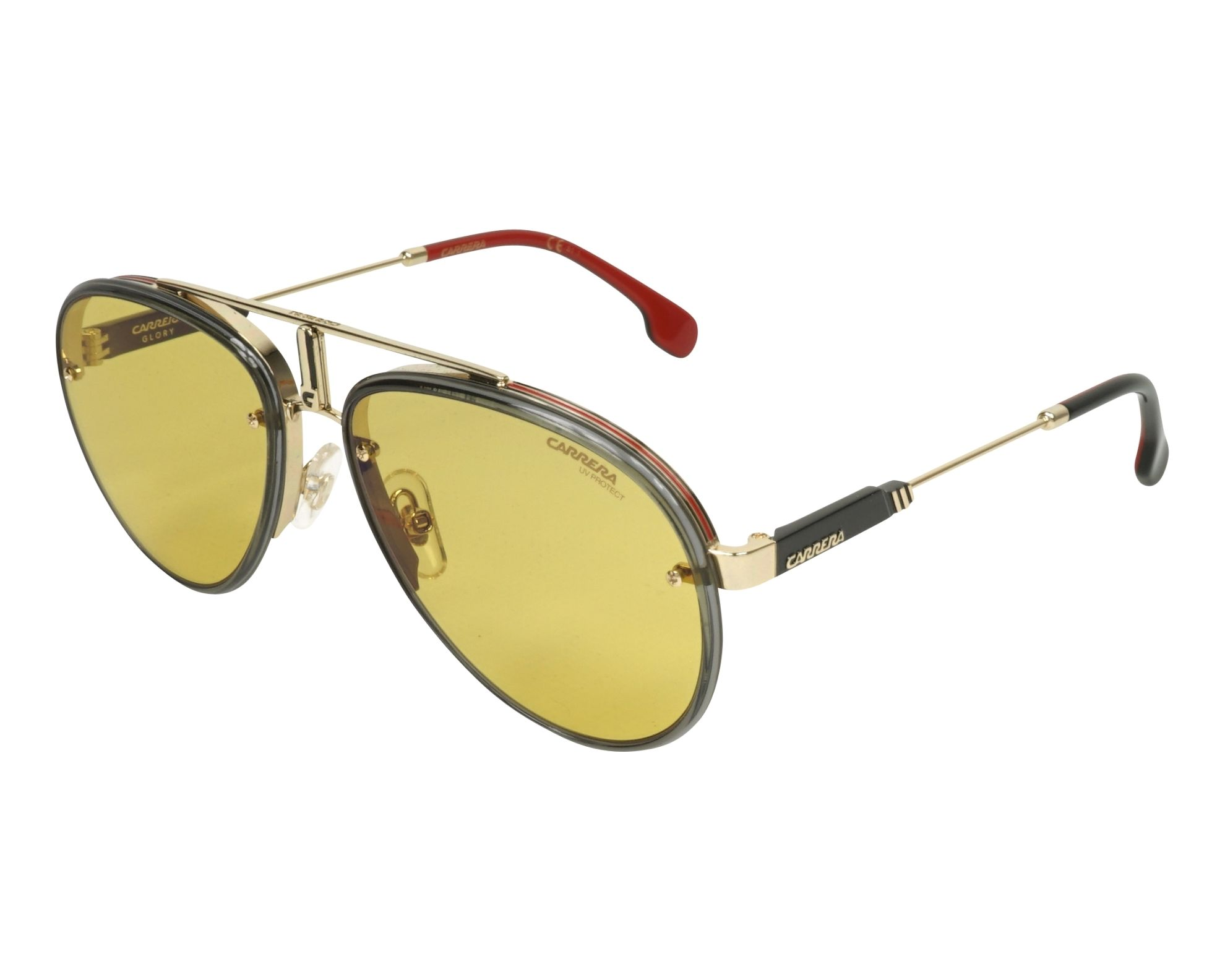9bea5af5eb5 Sunglasses Carrera GLORY DYG HW 58-17 Gold Grey profile view