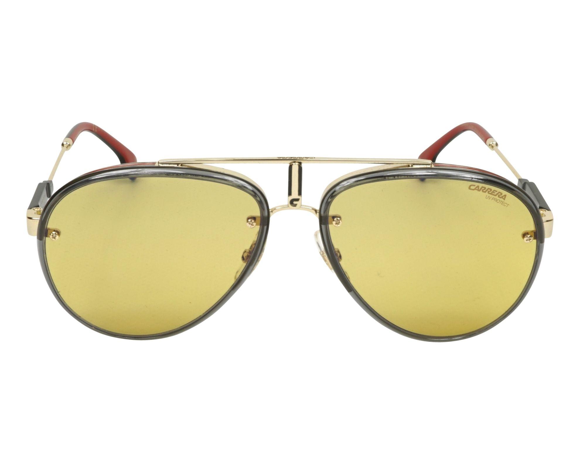 da08aea91f Sunglasses Carrera GLORY DYG HW 58-17 Gold Grey front view