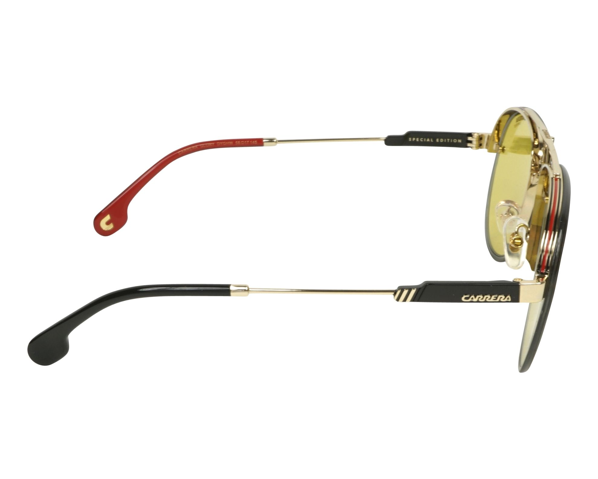 bb3c4e0cf00 Sunglasses Carrera GLORY DYG HW 58-17 Gold Grey side view