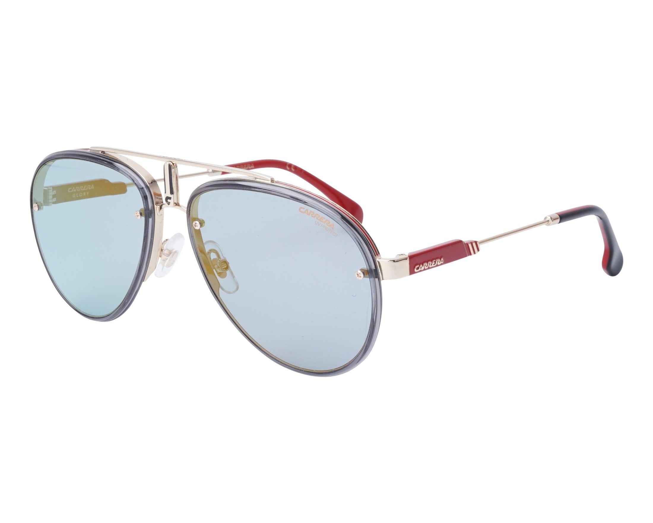 Sunglasses Carrera GLORY LKS2Y 58-17 Gold Grey profile view ca6aed5d4cc