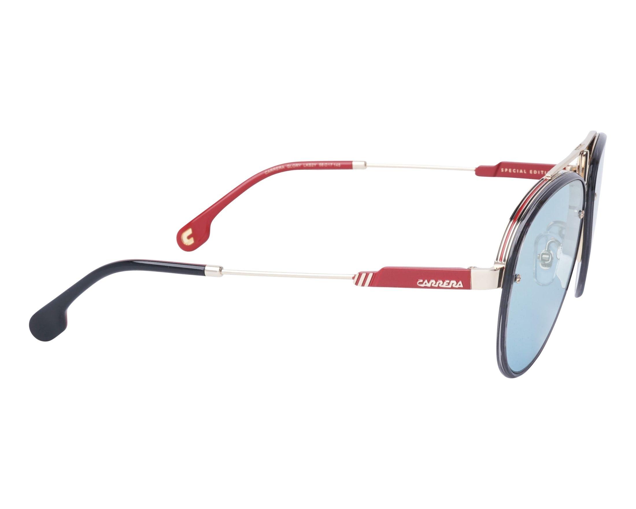 2b3439cfba Sunglasses Carrera GLORY LKS2Y 58-17 Gold Grey side view