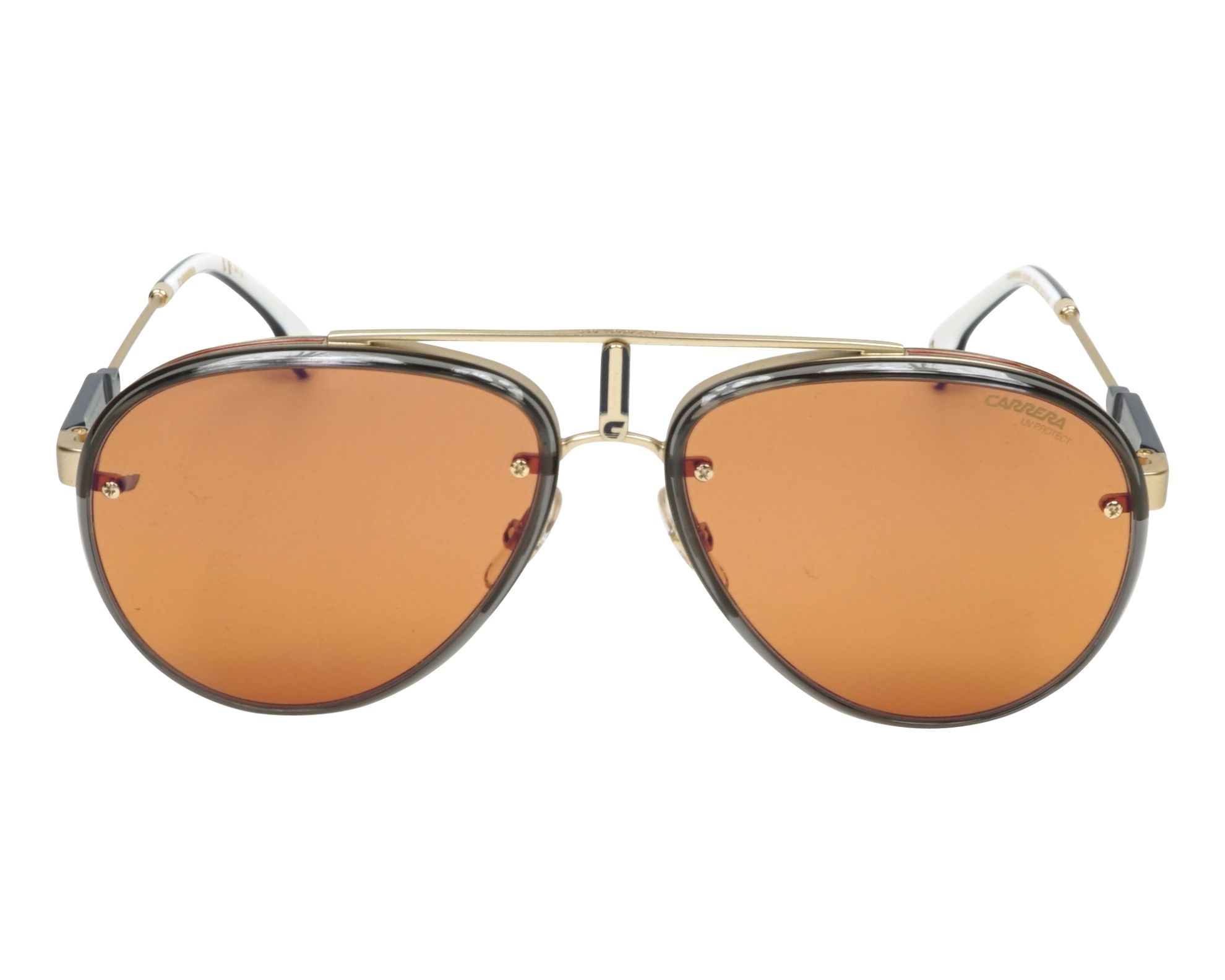 90c584c854 Sunglasses Carrera GLORY OFY DP 58-17 Gold Grey front view