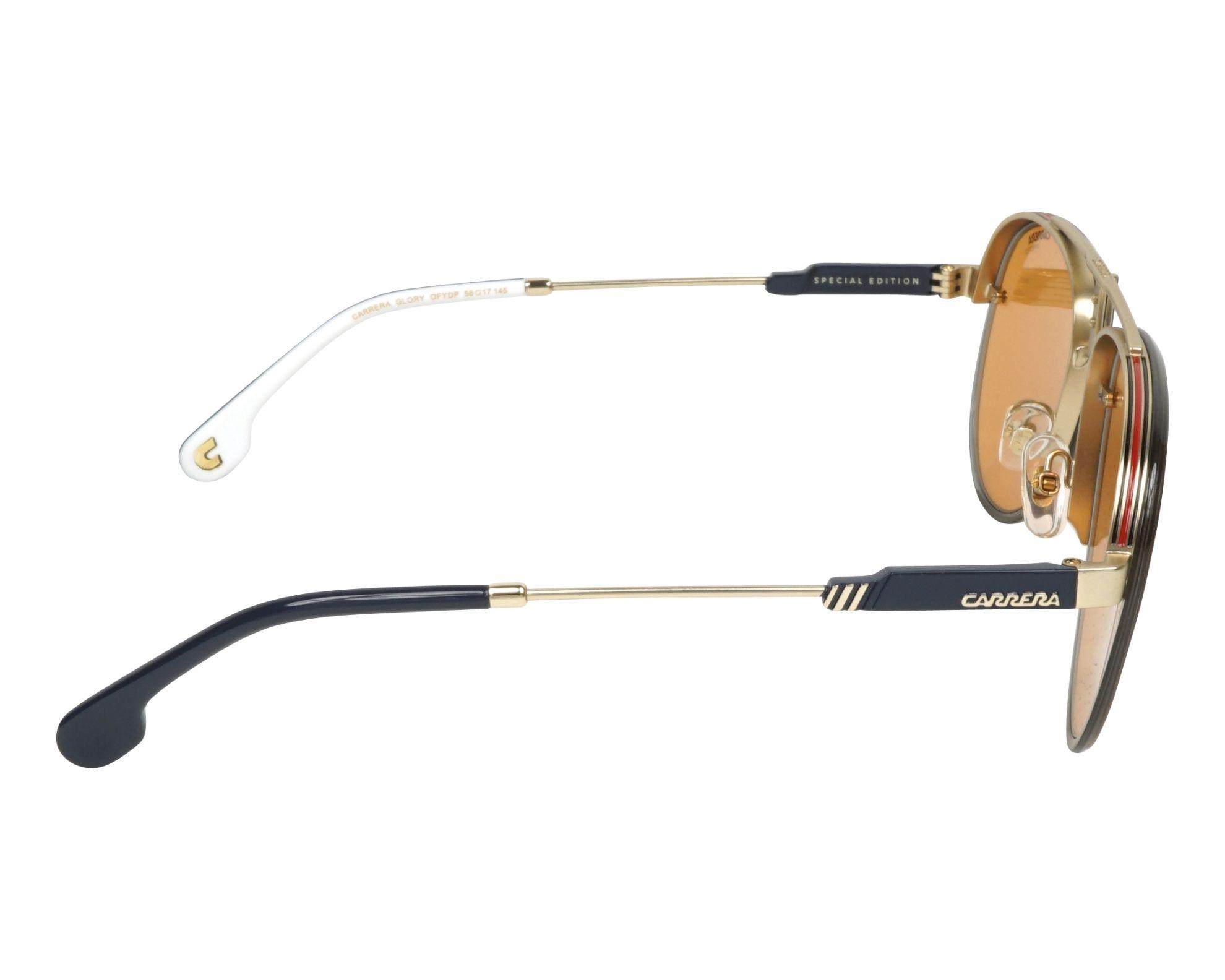 1f48a7e9b8 Sunglasses Carrera GLORY OFY DP 58-17 Gold Grey side view