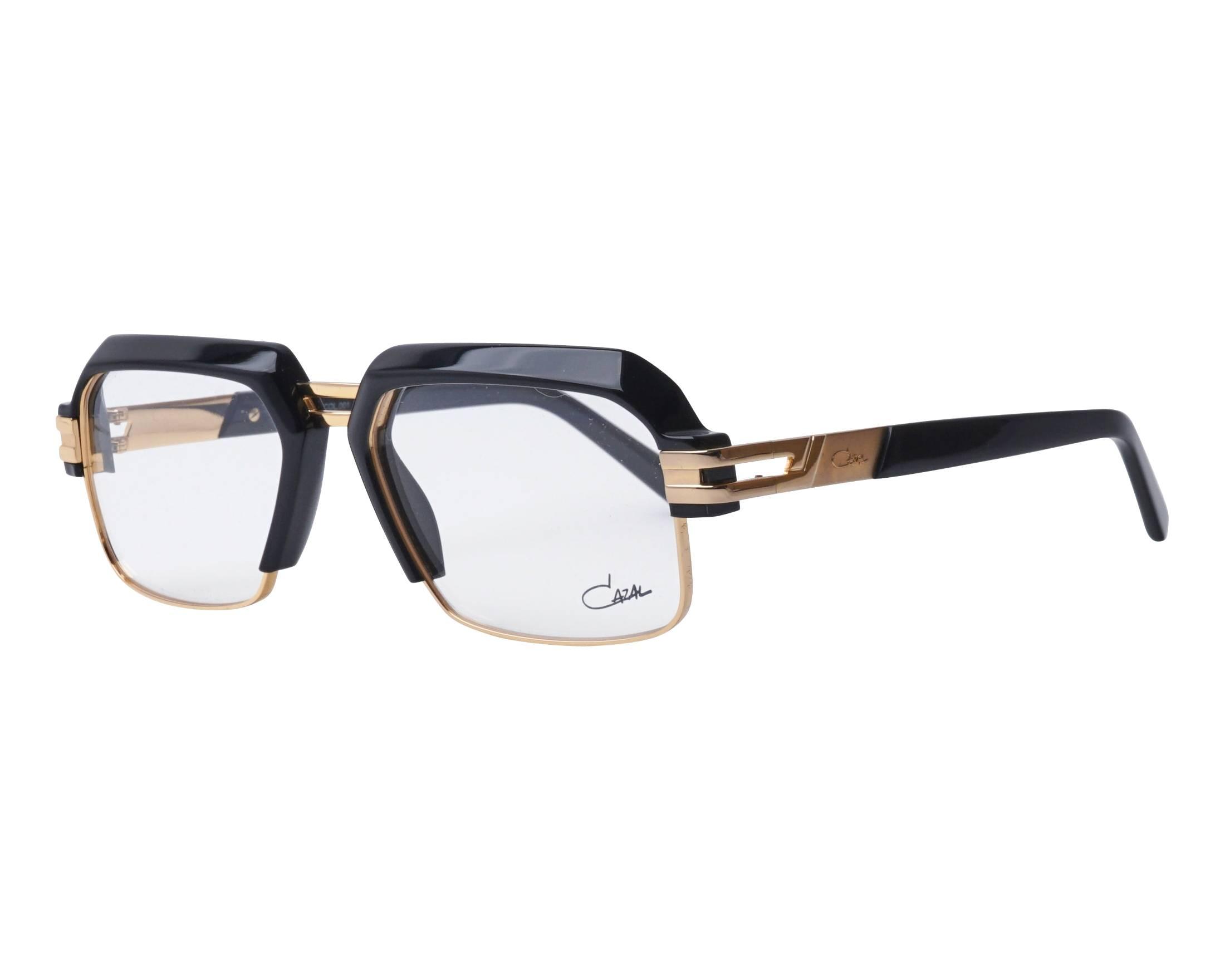 4919435550ac eyeglasses Cazal 6020 001 56-17 Black Gold profile view