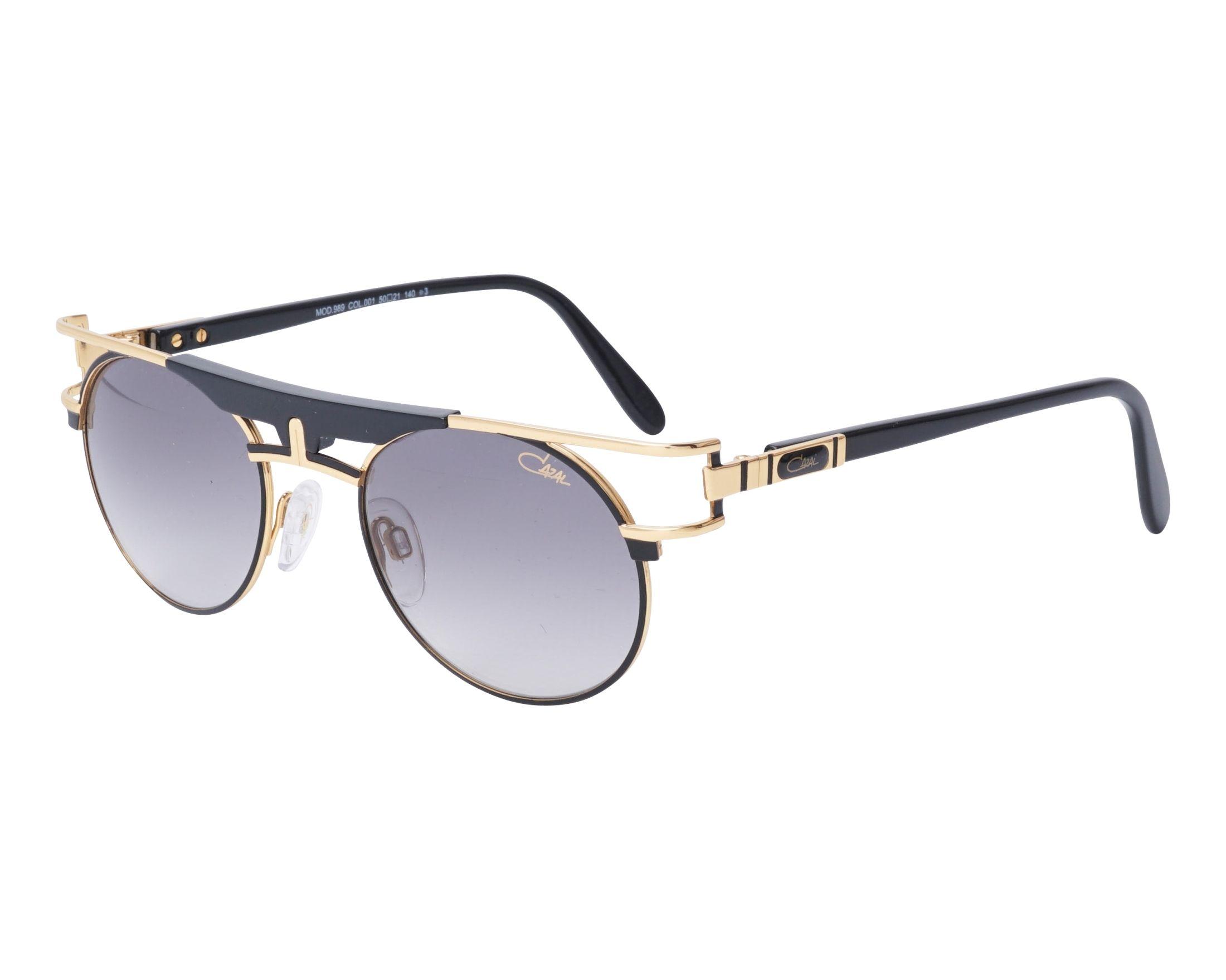 f73590e030 Sunglasses Cazal 989 001 50-21 Black Gold profile view