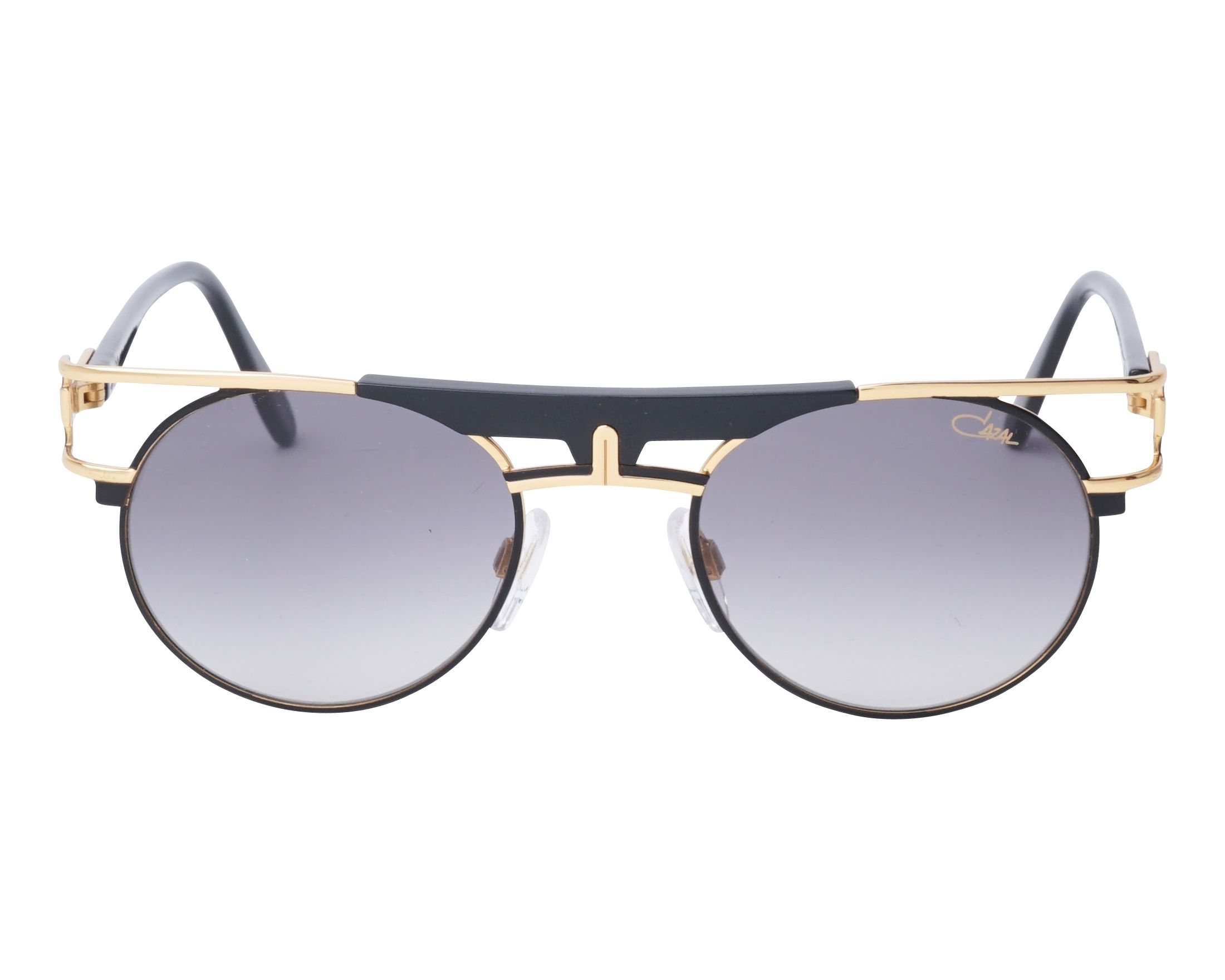 0cd95bb3a9 Sunglasses Cazal 989 001 50-21 Black Gold front view