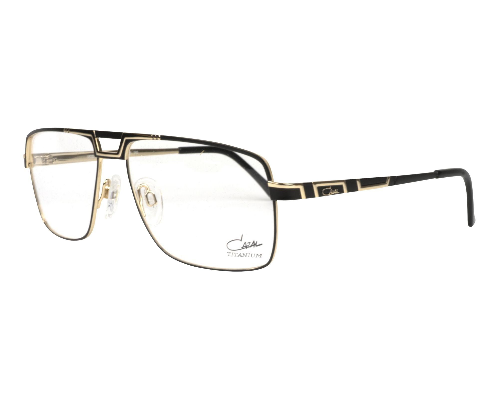 eyeglasses Cazal M-7068 001 57-15 Black Gold profile view