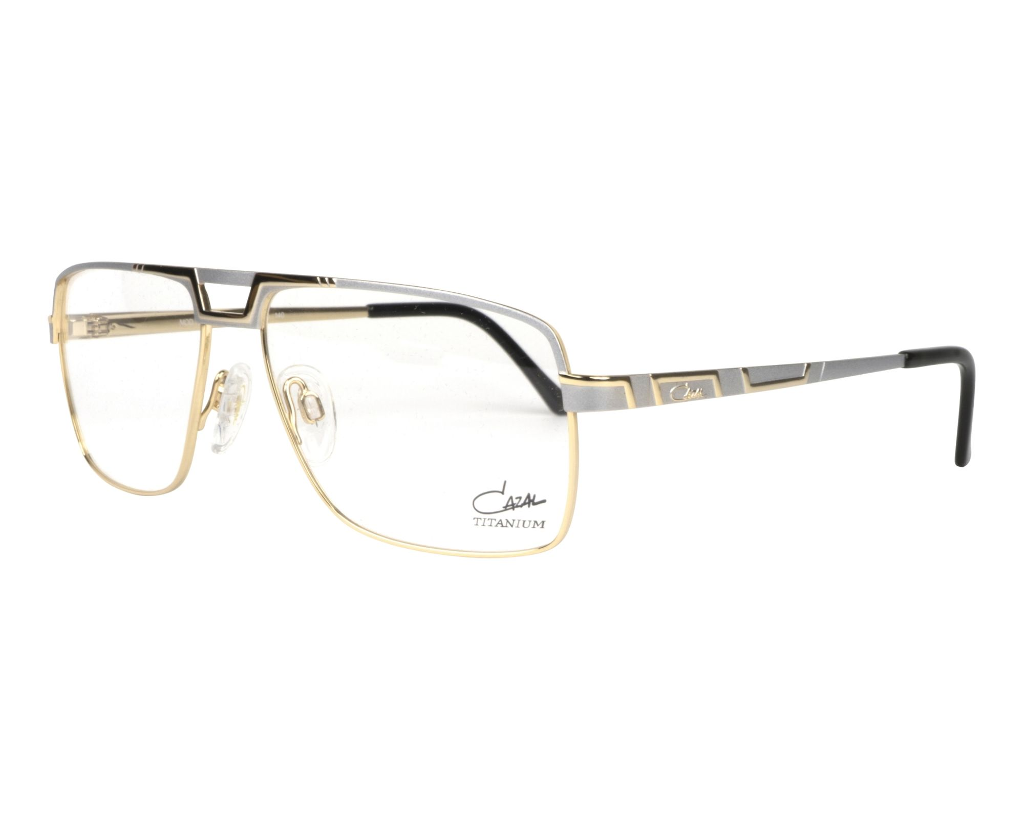eyeglasses Cazal M-7068 002 57-15 Silver Gold profile view