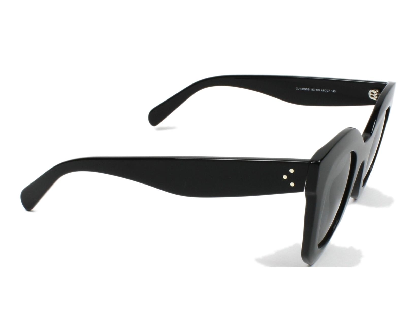 34b6c4a5bf67 thumbnail Sunglasses Céline CL-41393-S 807 BN - Black side view