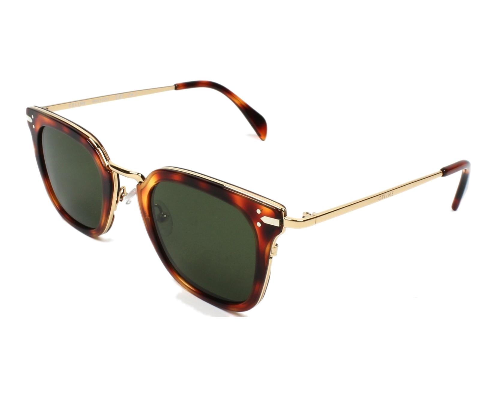 2df674e4574 Sunglasses Céline CL-41402 3UA 1E 47-25 Havana Gold profile view