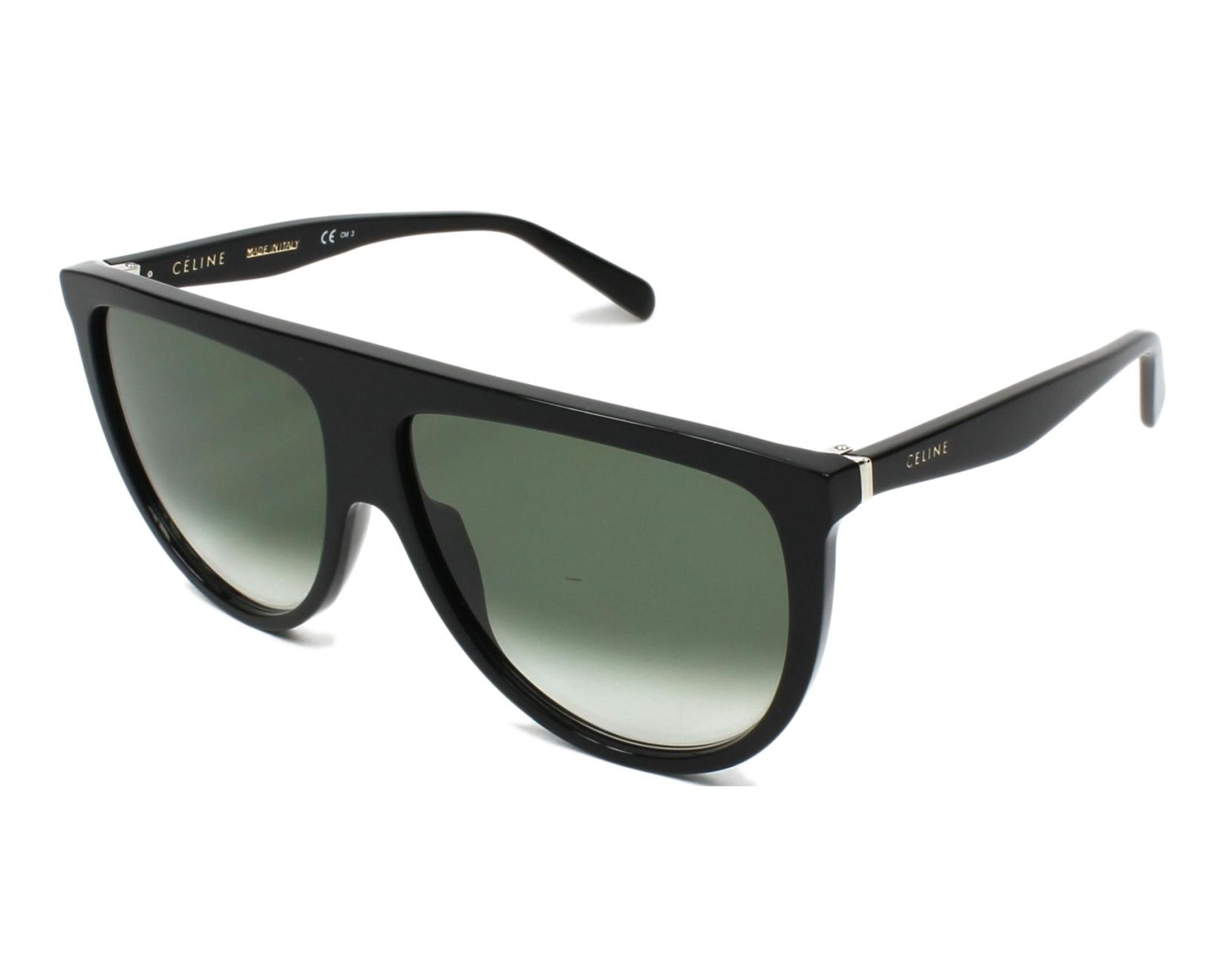 a71398c9bf0b thumbnail Sunglasses Céline CL-41435-S 807 XM - Black profile view