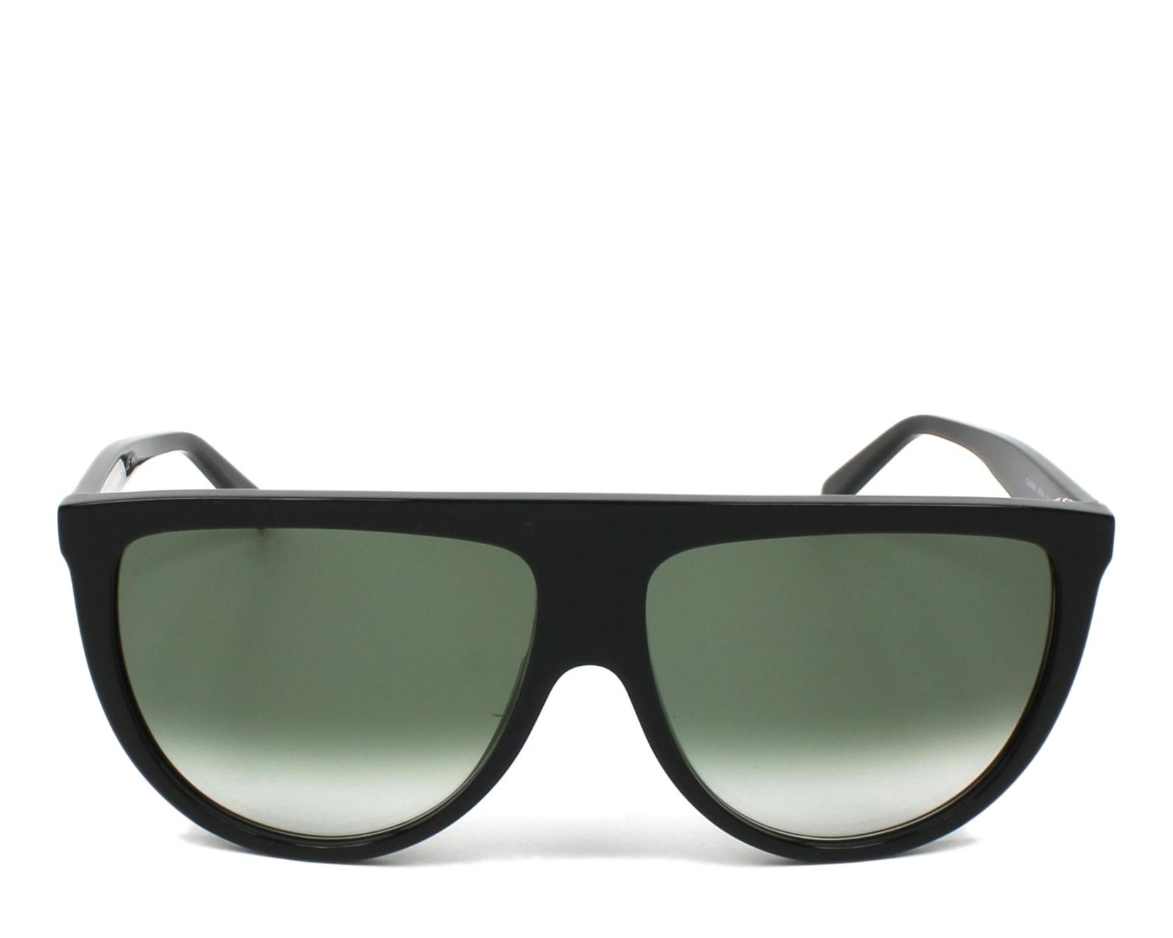 43667bc2c080 thumbnail Sunglasses Céline CL-41435-S 807 XM - Black front view
