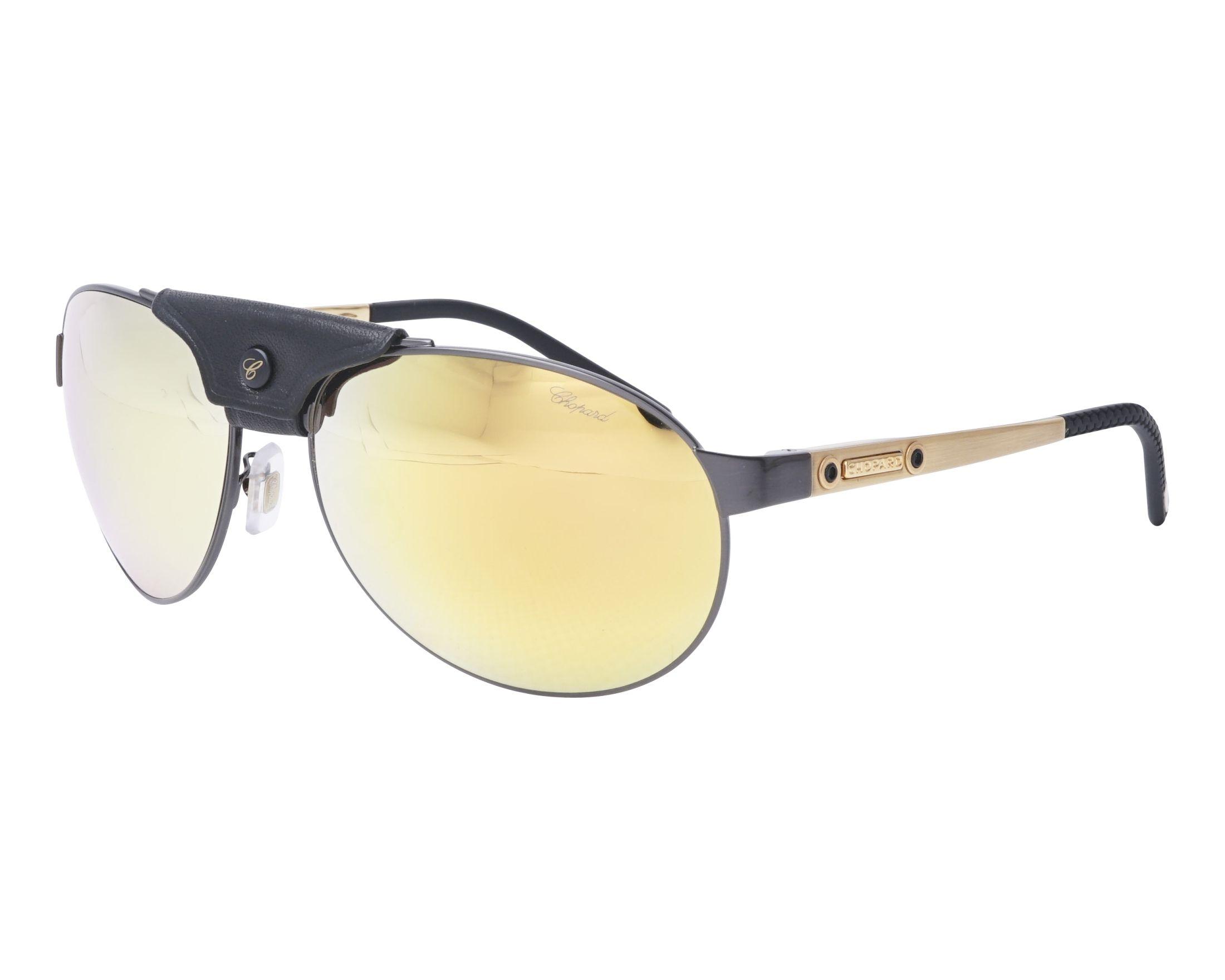 d254934af91 Polarized. Sunglasses Chopard SCH-932 K10G 62-16 Gold Black profile view