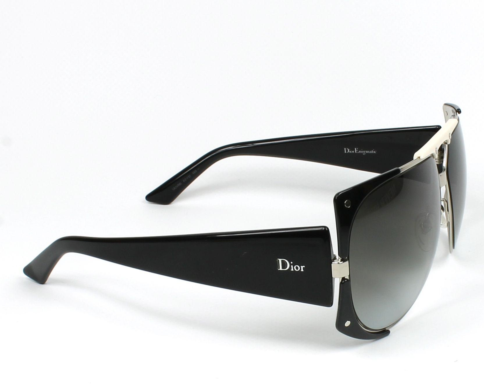 Sunglasses Christian Dior DIORENIGMATIC UUV N6 - Silver Black side view 4957da6c2d20