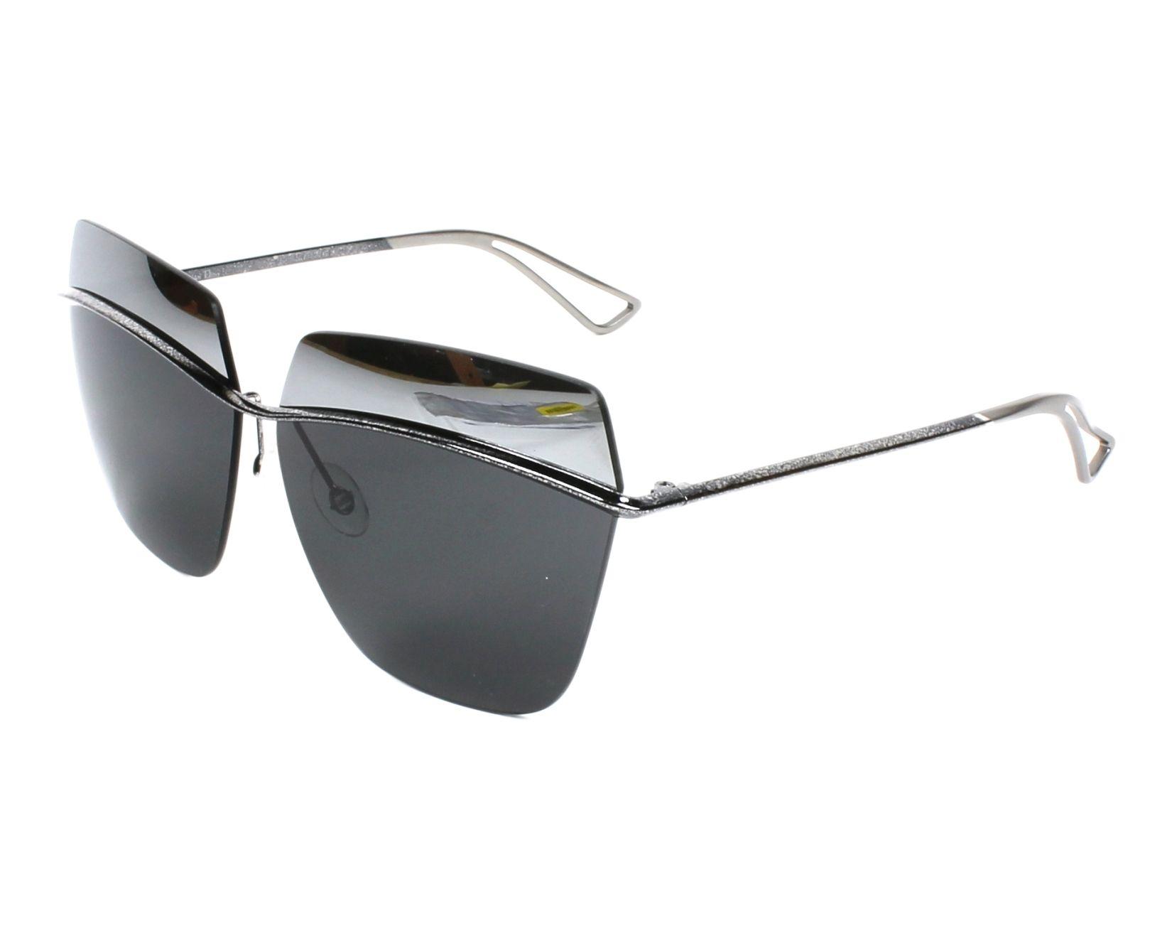 4417e3dca5be Sunglasses Christian Dior DIORMETALLIC SSP KW 63-10 Silver Blue profile view