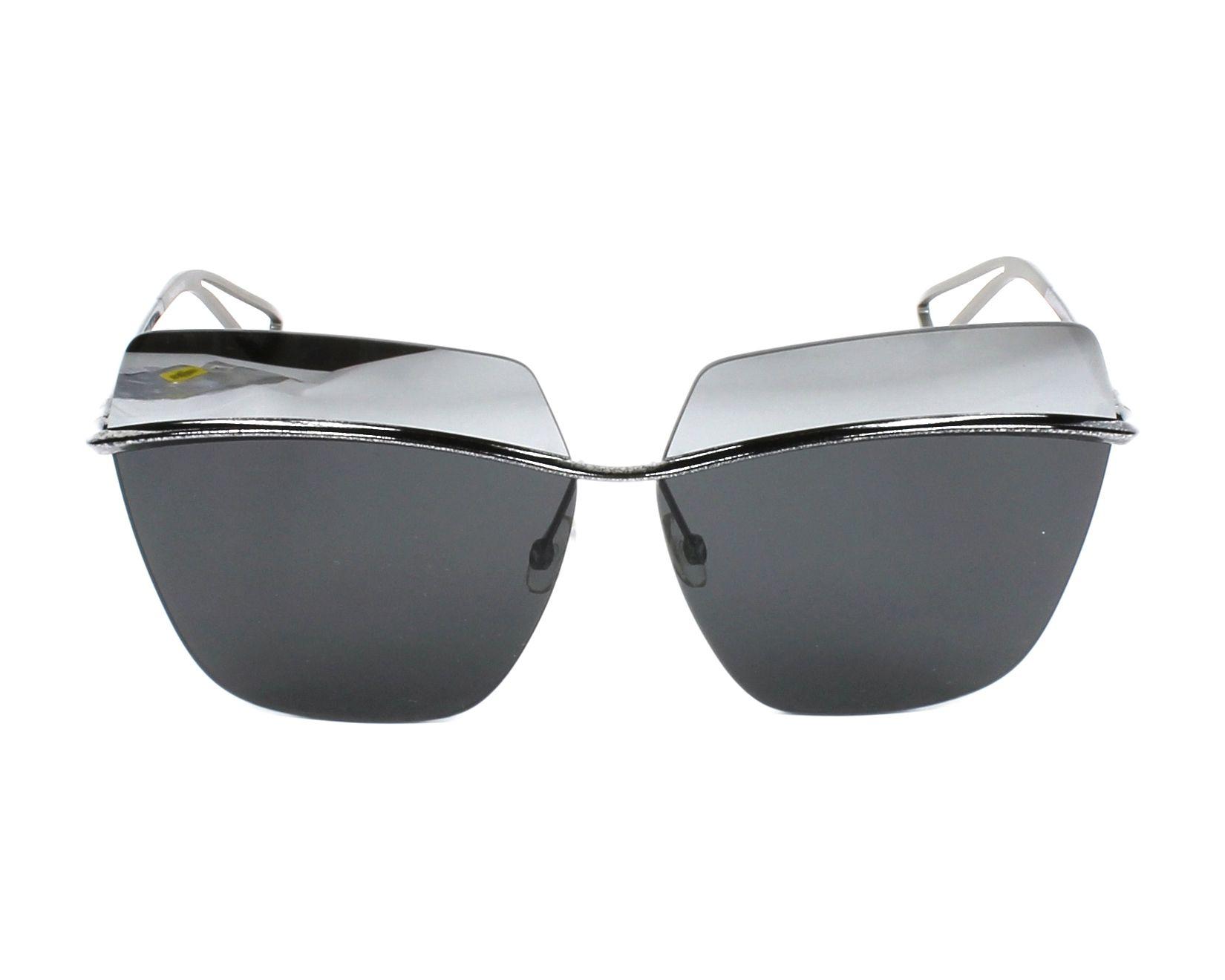 b12d46164ada Sunglasses Christian Dior DIORMETALLIC SSP KW 63-10 Silver Blue front view