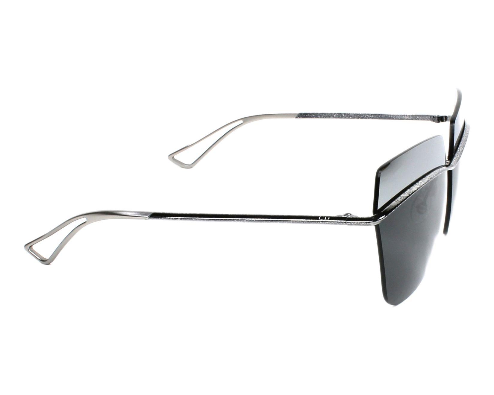 d1aa56fdde33 Sunglasses Christian Dior DIORMETALLIC SSP KW 63-10 Silver Blue side view