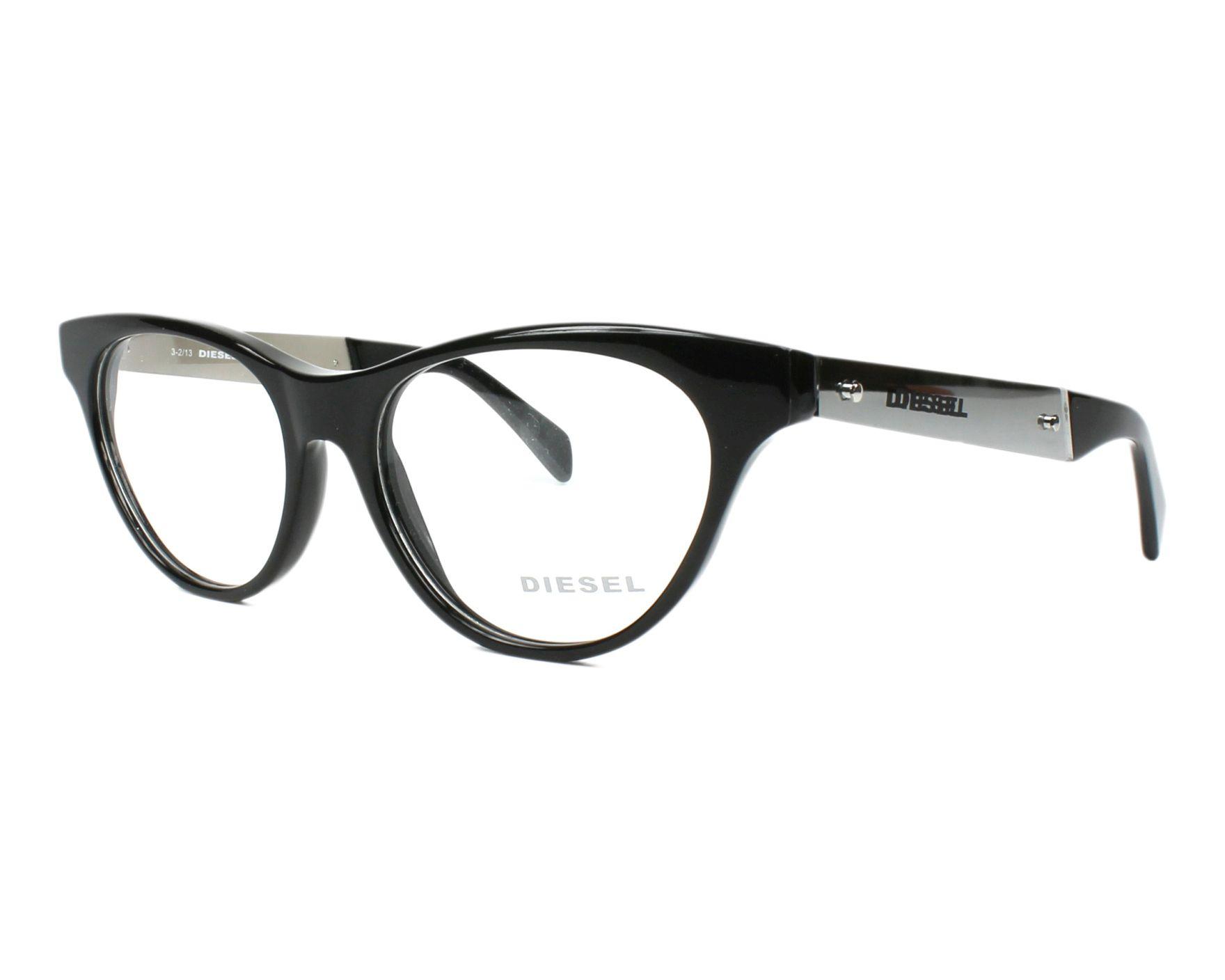 dc3e425991c eyeglasses Diesel DL-5059 001 52-16 Black Silver profile view