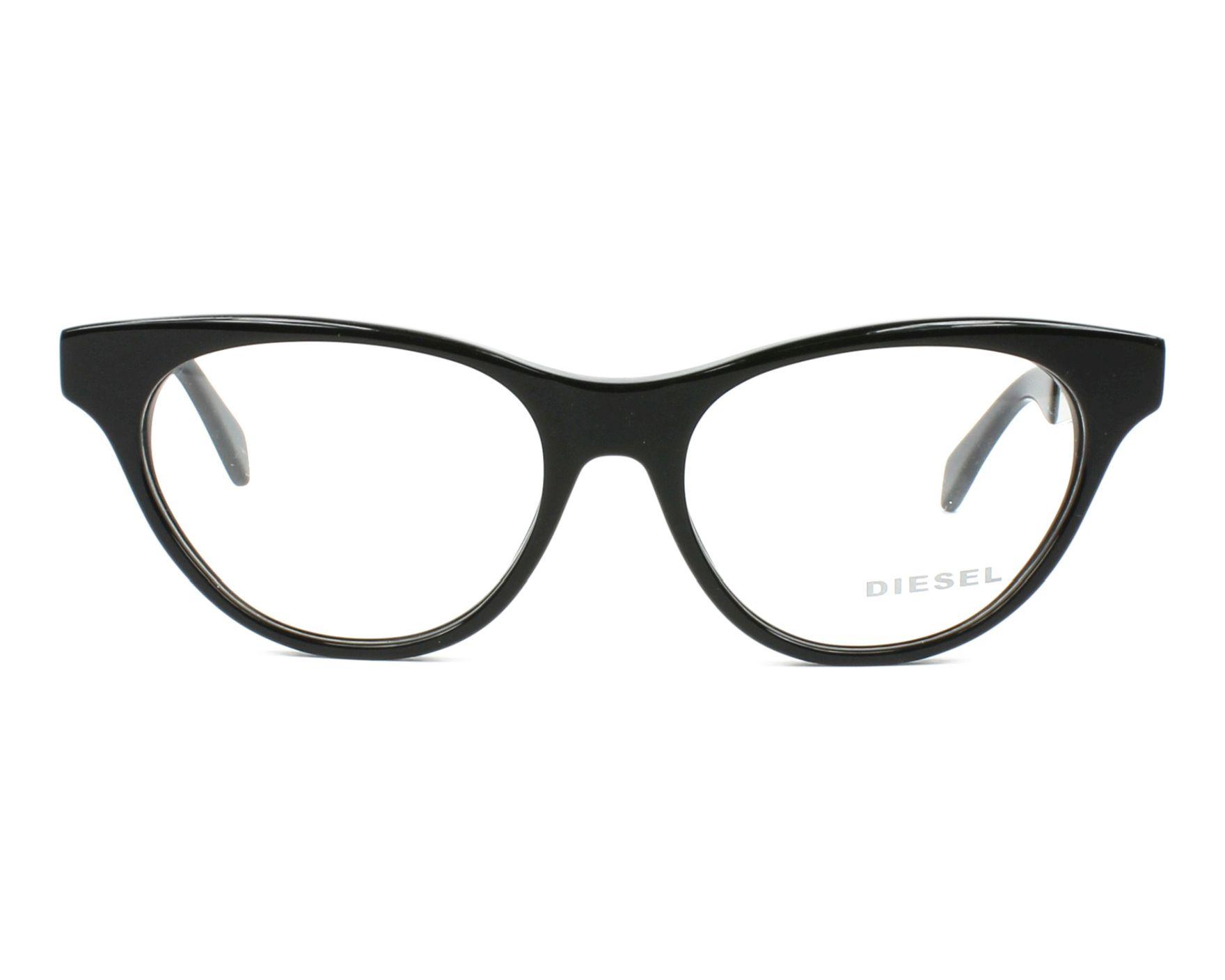 0ec216ed067 eyeglasses Diesel DL-5059 001 52-16 Black Silver front view
