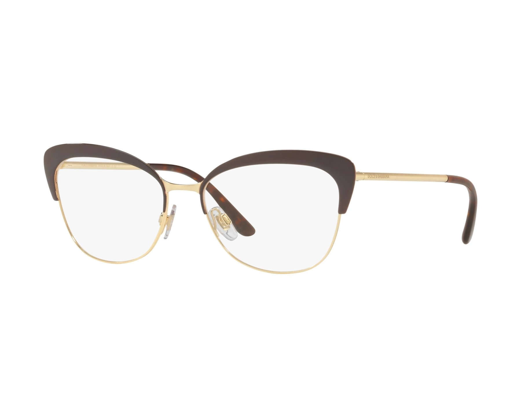 eyeglasses Dolce & Gabbana DG-1298 1315 54-16 Brown Gold