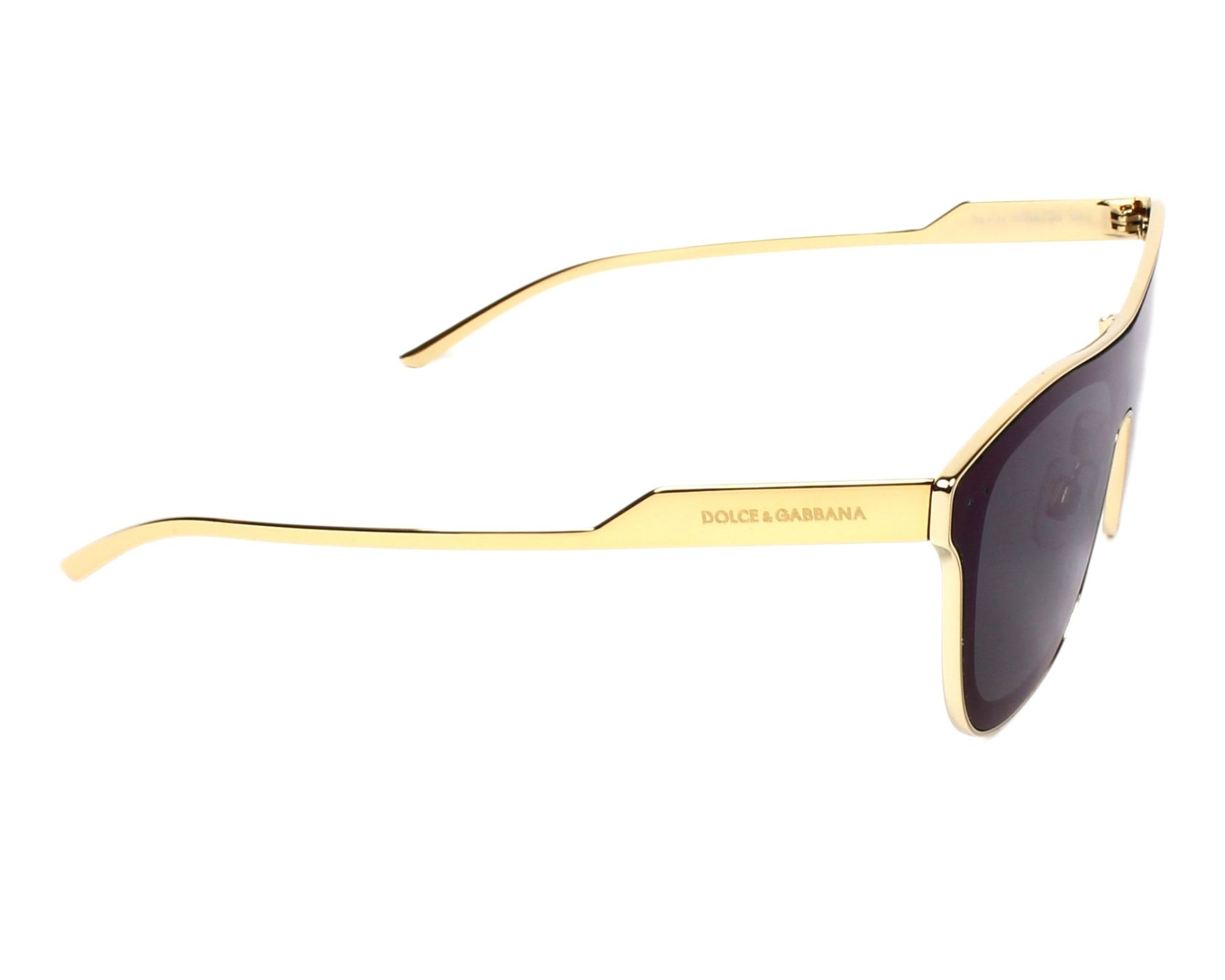 thumbnail Sunglasses Dolce   Gabbana DG-2174 02 96 42- Gold side view 5001c09410