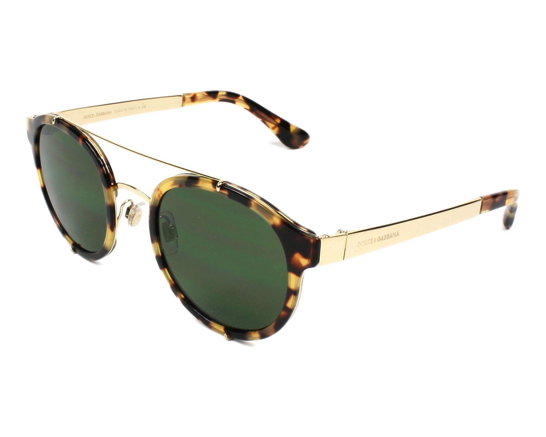 Dolce & Gabbana Sunglasses Havana Honey with Green Lenses DG-2184 ...