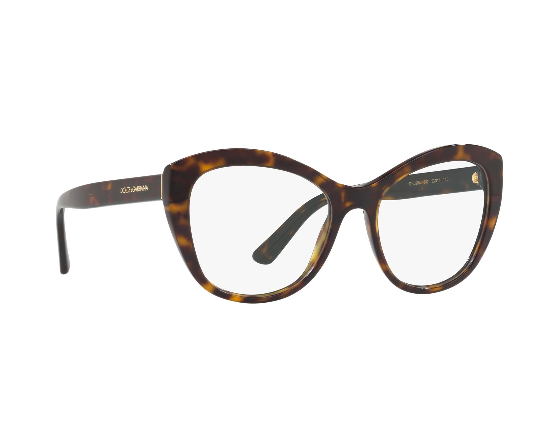 eyeglasses Dolce   Gabbana DG-3284 502 53-17 Havana 360 degree view 12 fa90ee0a39