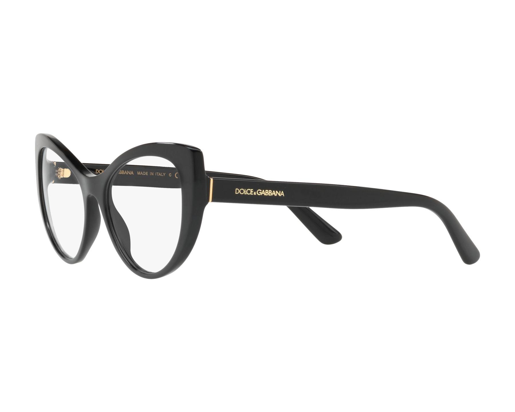 559b1eb6a957 eyeglasses Dolce   Gabbana DG-3285 501 52-17 Black 360 degree view 3