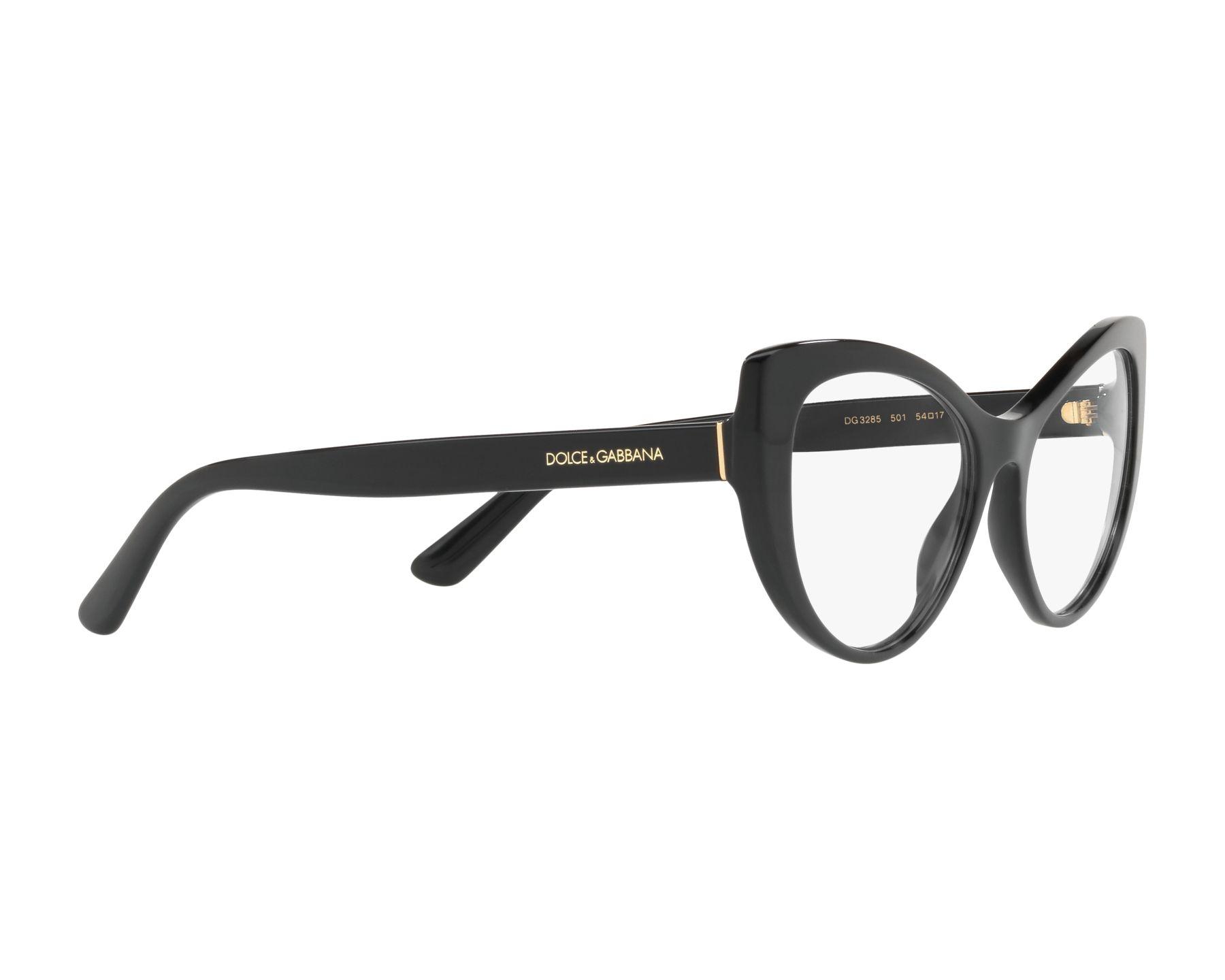 e6b1623b8738 eyeglasses Dolce   Gabbana DG-3285 501 52-17 Black 360 degree view 11