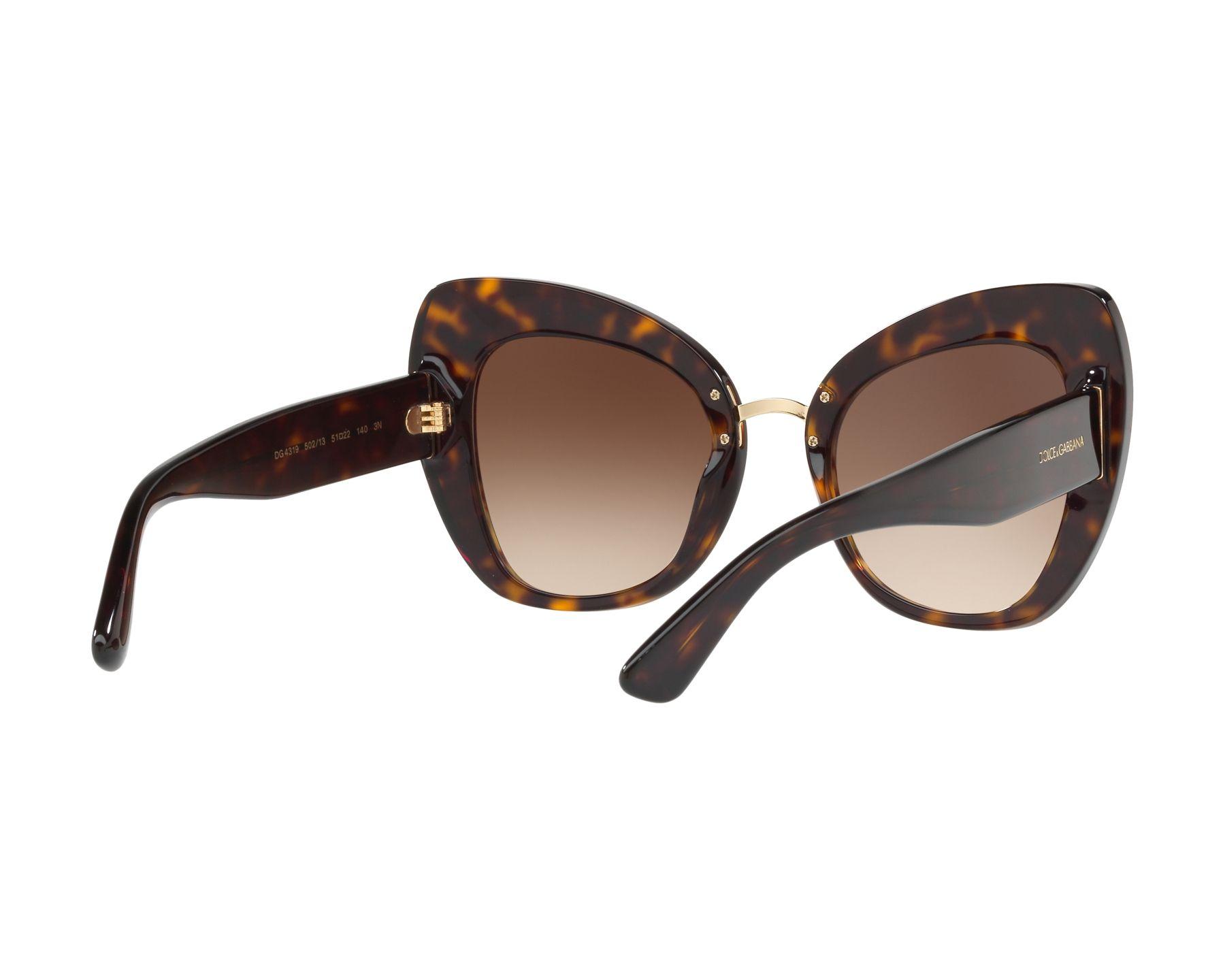 d6842b9214f4 Sunglasses Dolce   Gabbana DG-4319 502 13 51-22 Havana Gold 360