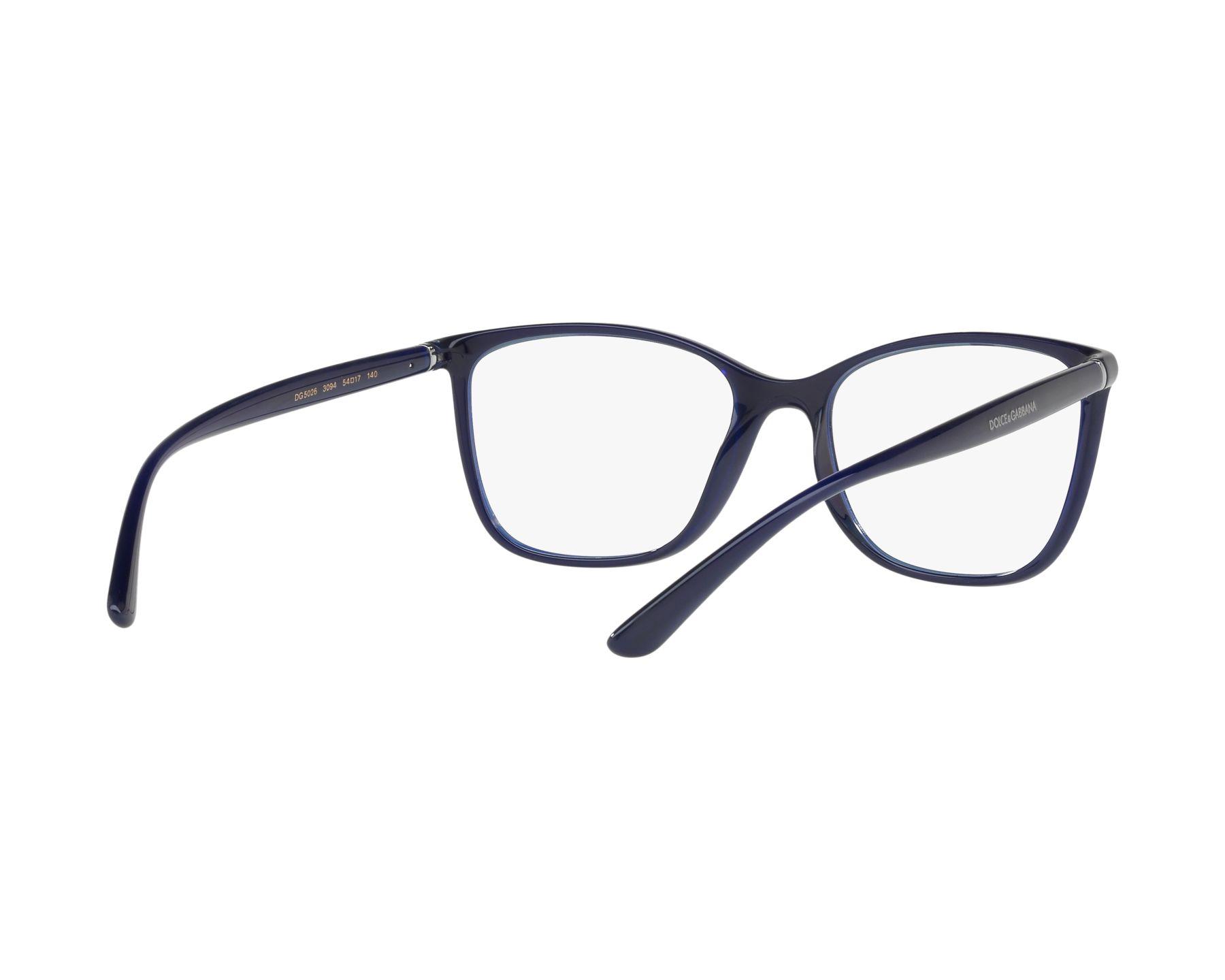 6e689925308 eyeglasses Dolce   Gabbana DG-5026 3094 54-17 Blue 360 degree view 8
