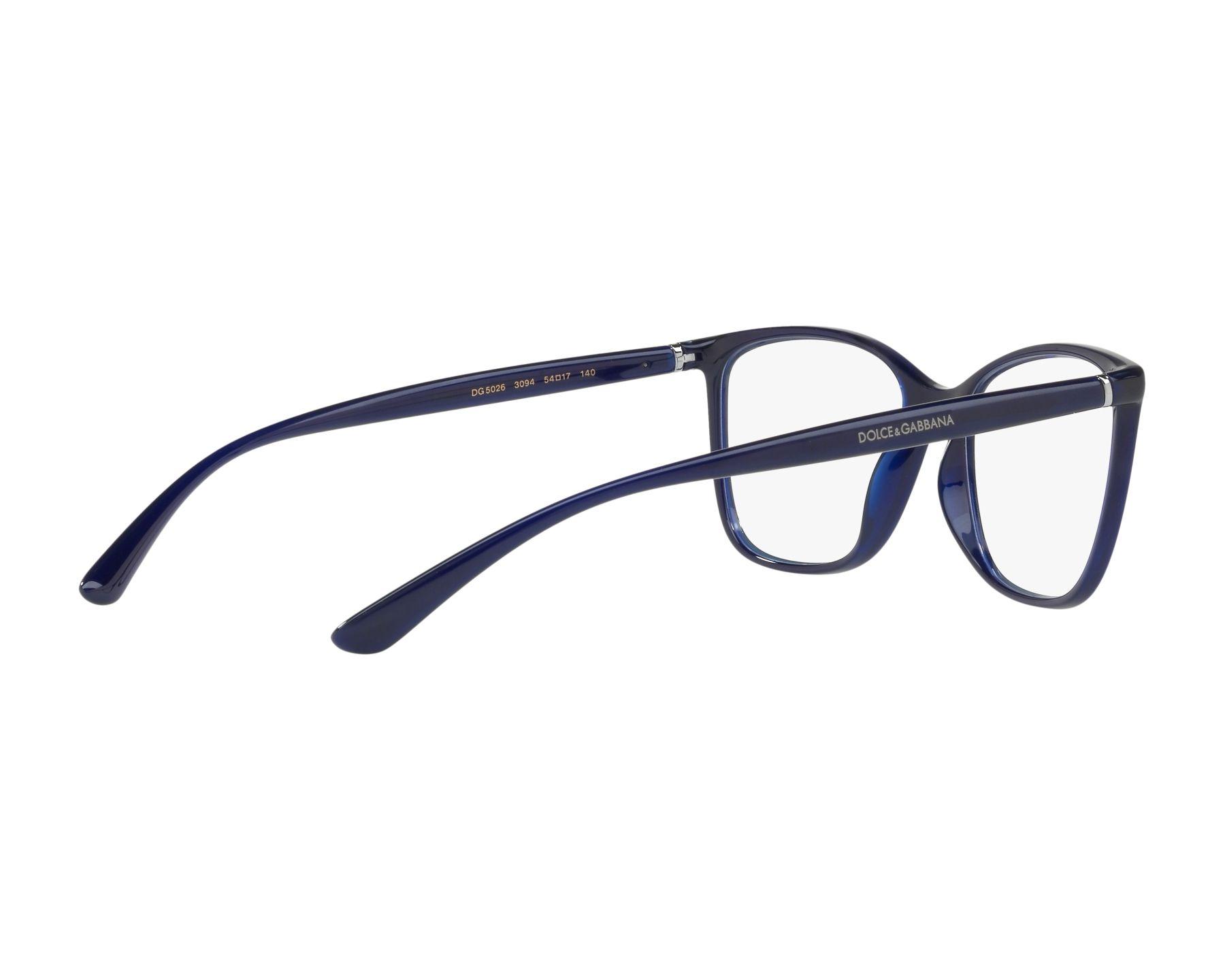 ea013d700fb eyeglasses Dolce   Gabbana DG-5026 3094 54-17 Blue 360 degree view 9