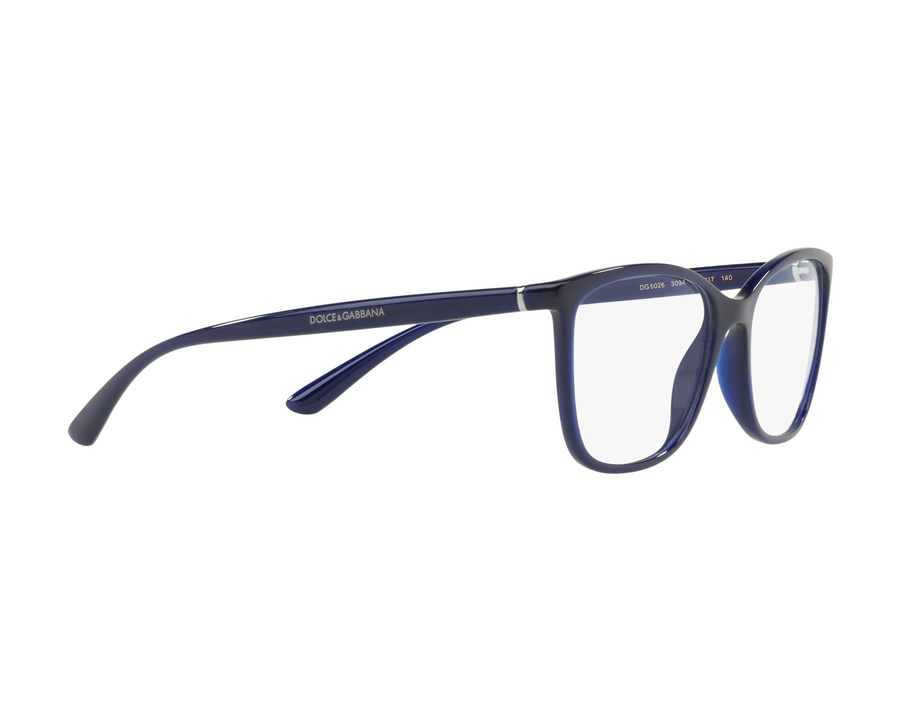094c5f3c48d eyeglasses Dolce   Gabbana DG-5026 3094 54-17 Blue 360 degree view 11