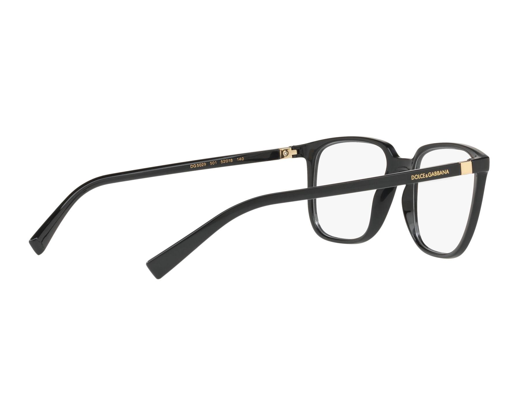 3725cd290a3 eyeglasses Dolce   Gabbana DG-5029 501 54-18 Black Gold 360 degree view