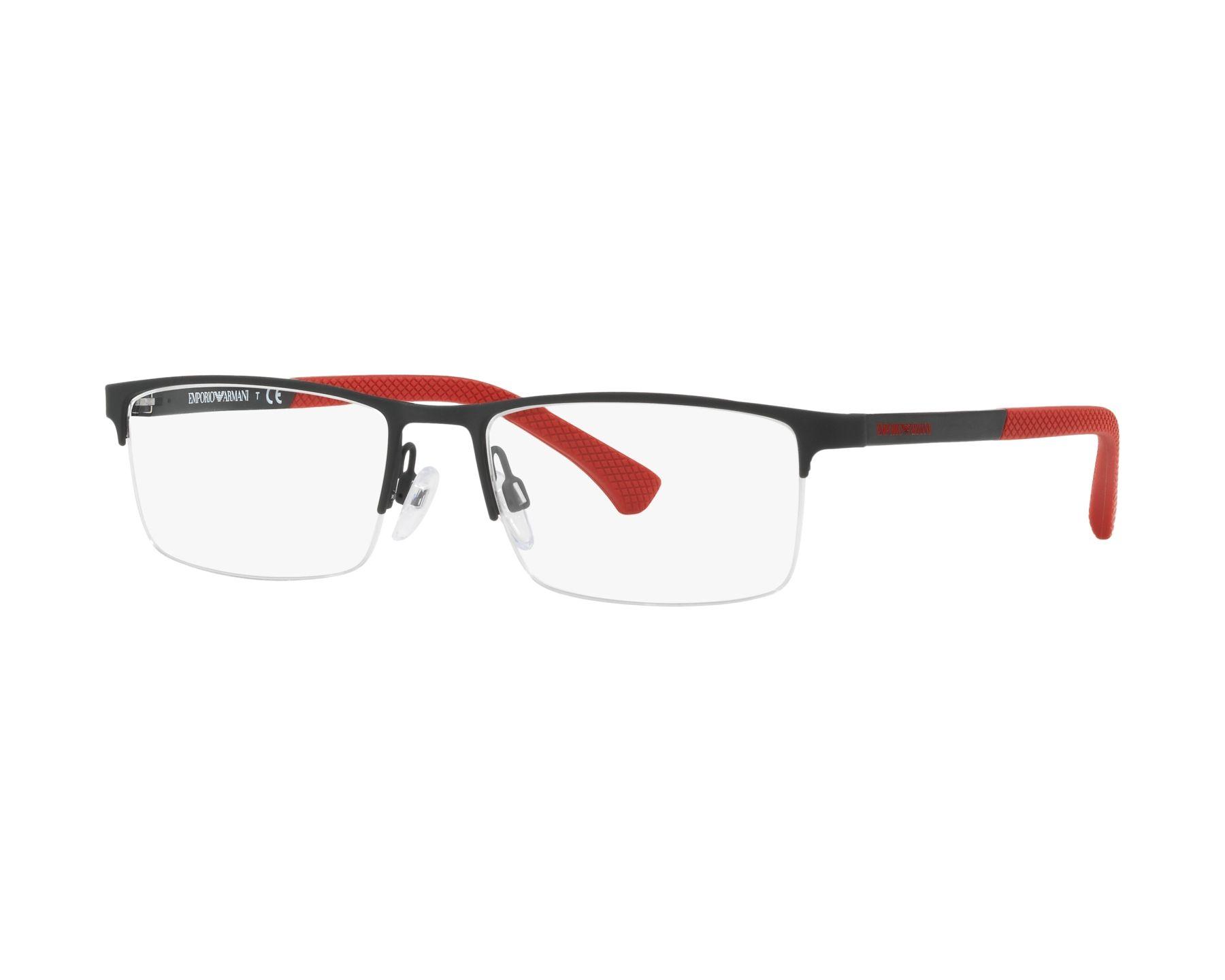 eyeglasses Emporio Armani EA-1041 3109 53-17 Black Red e025542bb4c5
