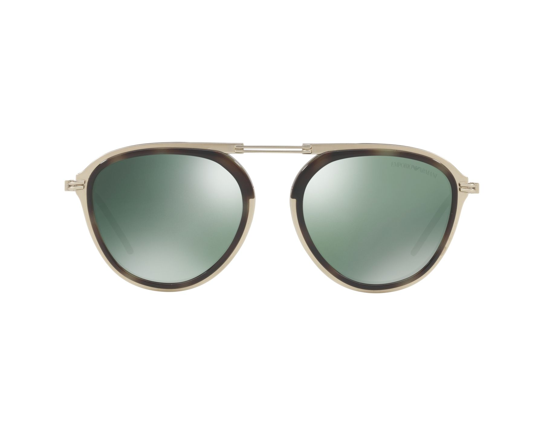 23f6f6e946fa Sunglasses Emporio Armani EA-2056 30026R 54-19 Gold Green 360 degree view 1