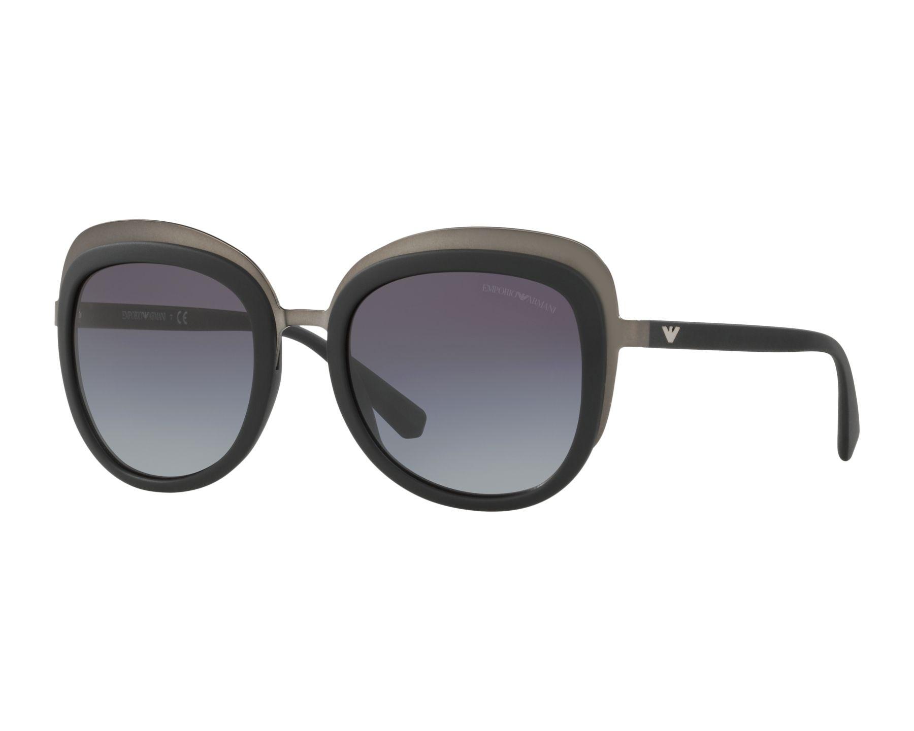 Sunglasses Emporio Armani EA-2058 30108G 53-21 Black Gun b932d64464c8